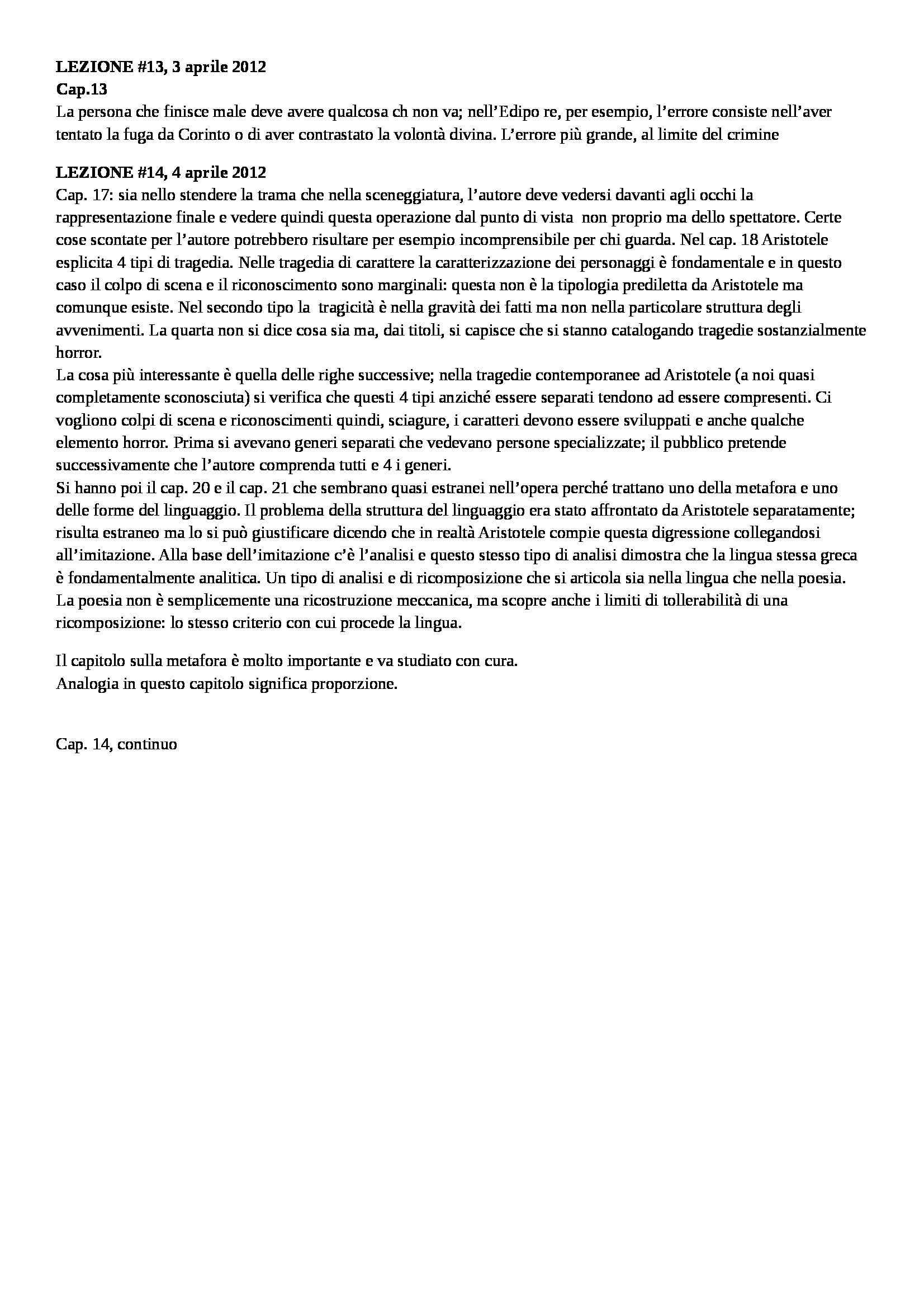 Filologia classica - Appunti delle lezioni Pag. 11