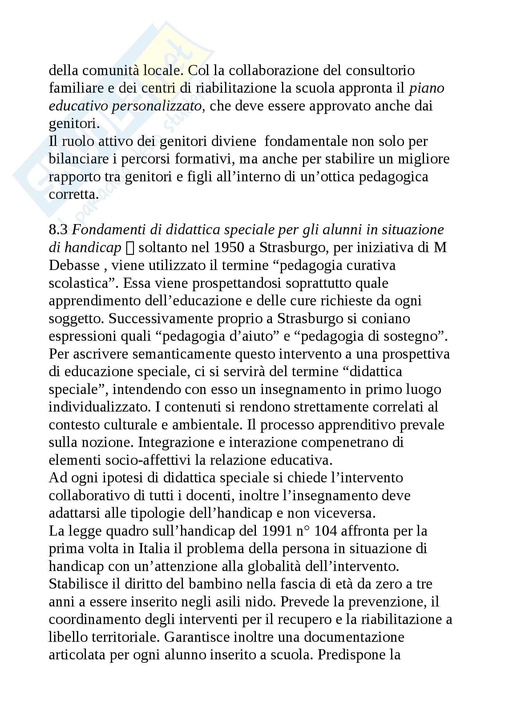 Riassunto esame Didattica generale, prof. Isidori, libro consigliato Didattica generale, Gennari Pag. 11