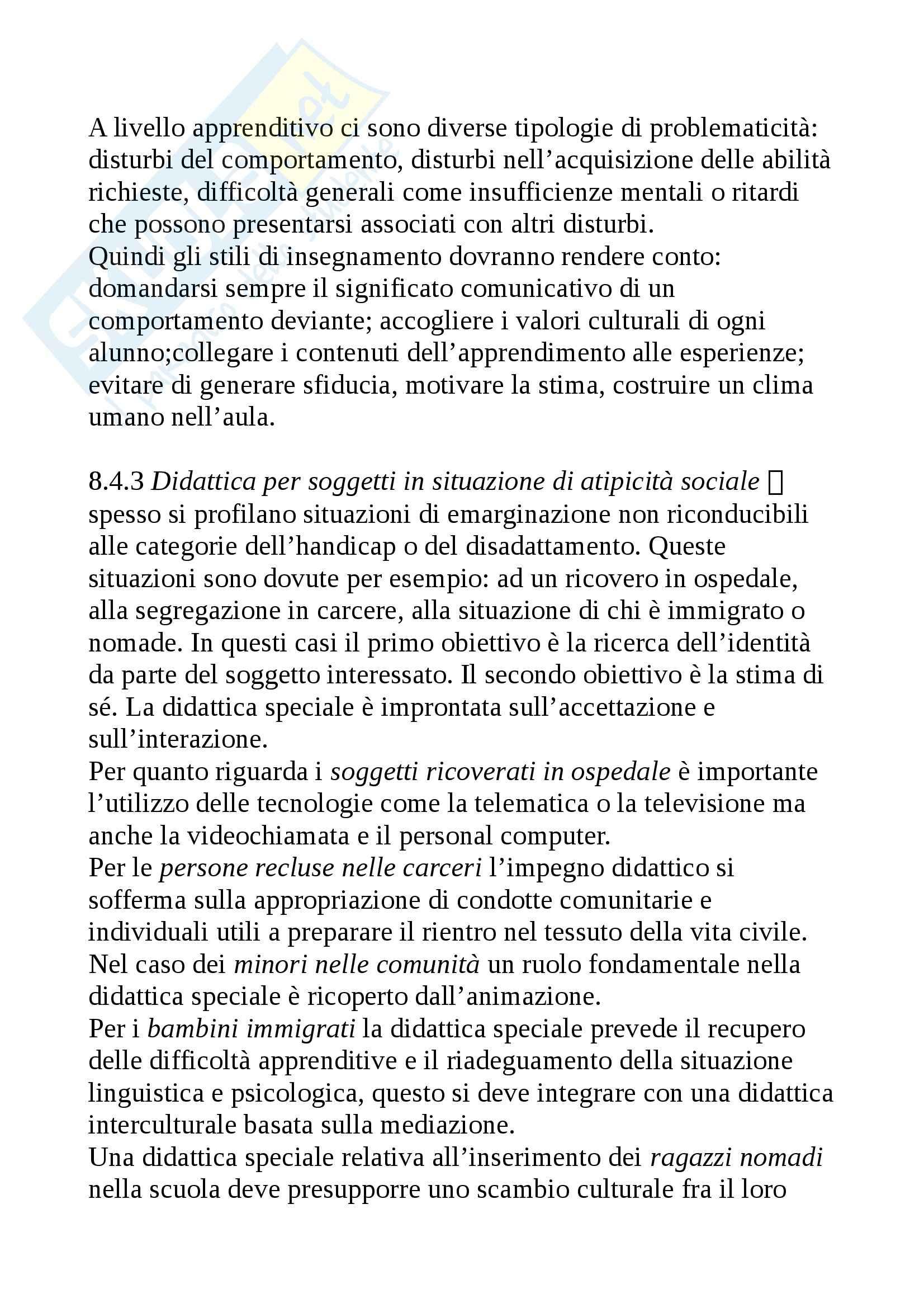 Riassunto esame Didattica generale, prof. Isidori, libro consigliato Didattica generale, Gennari Pag. 21