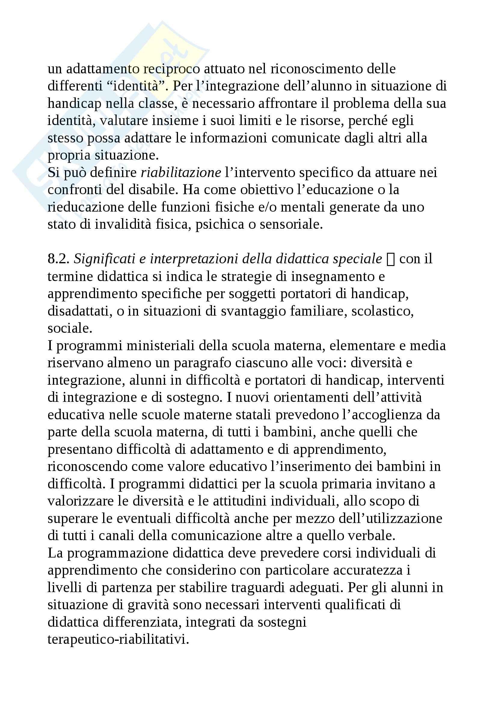 Riassunto esame Didattica generale, prof. Isidori, libro consigliato Didattica generale, Gennari Pag. 6
