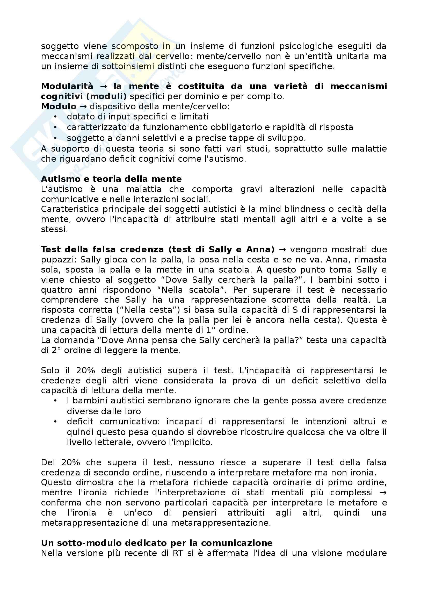 Riassunto esame Semiotica, prof. Calabi, libro consigliato Pragmatica Cognitiva, Bianchi Pag. 21