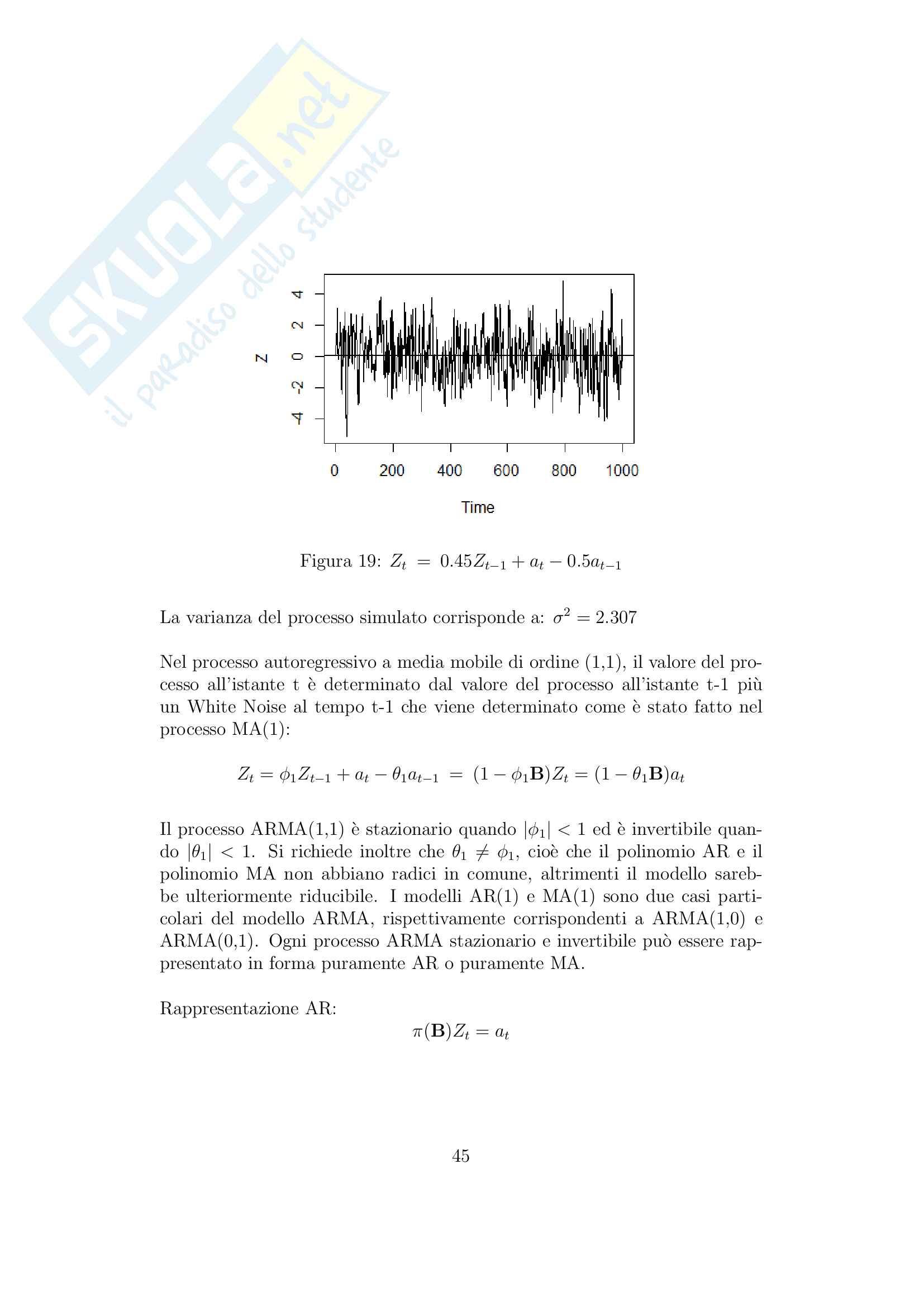 Previsione serie storiche applicando la foresta casuale Pag. 46