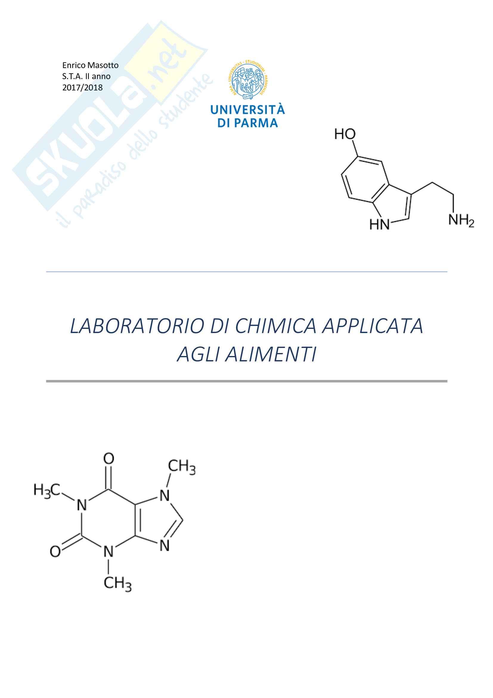 Laboratorio di chimica applicata agli alimenti