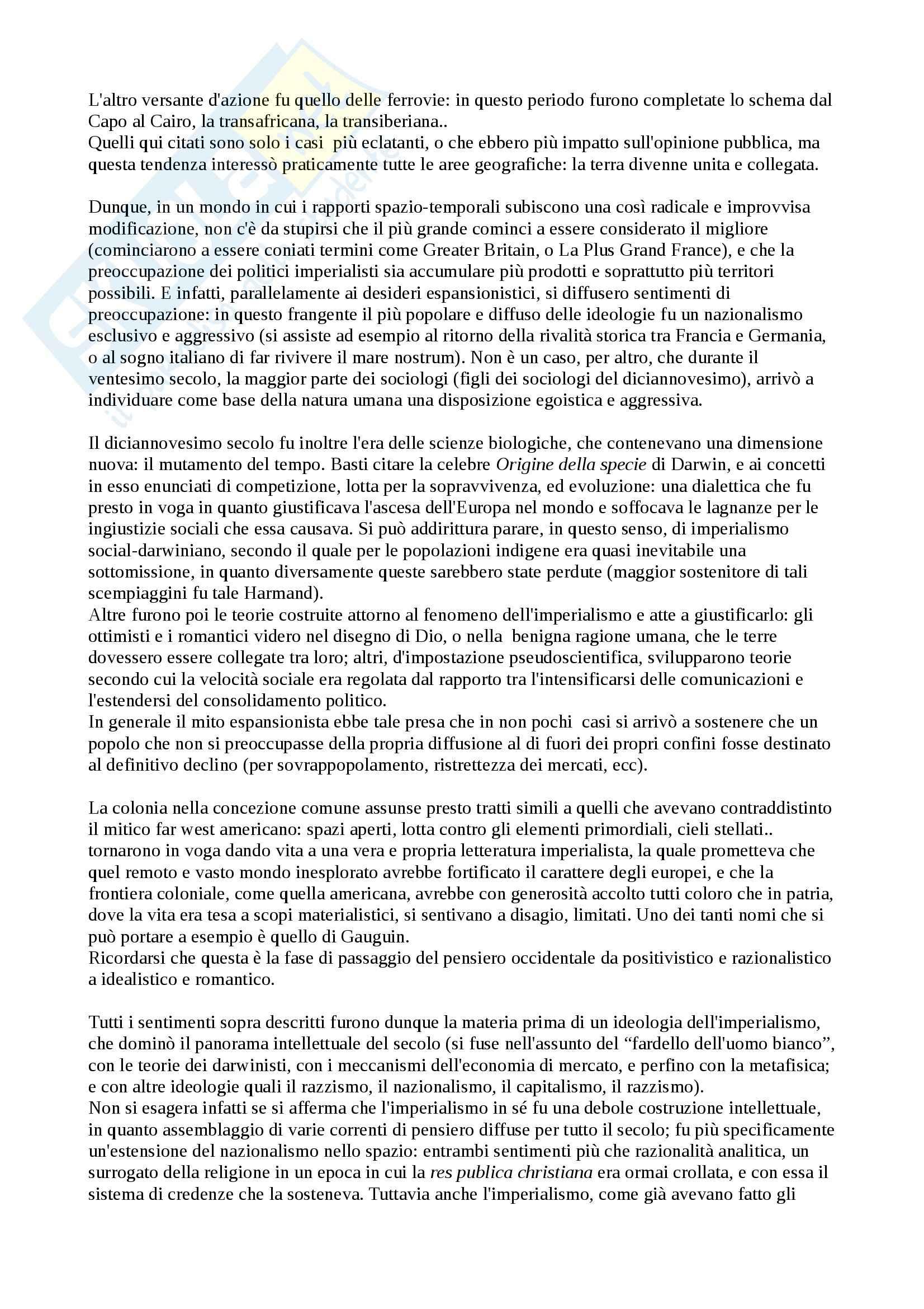 Riassunto esame storia contemporanea, prof. Gagliani, libro consigliato L'alba illusioria, Betts Pag. 2