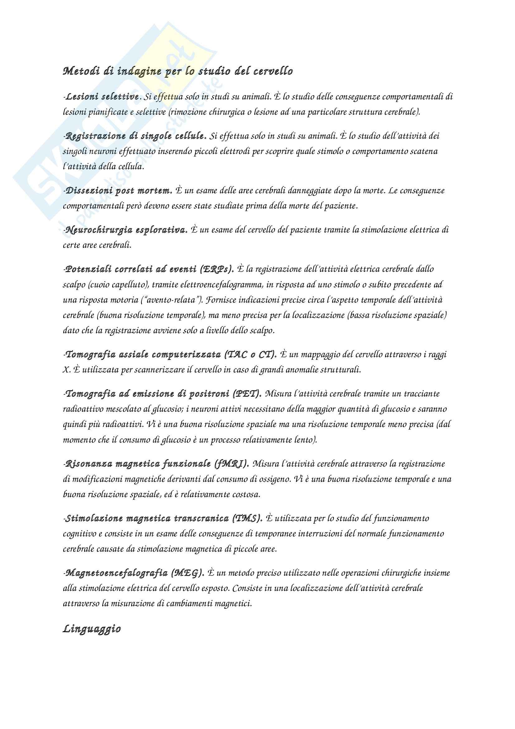 Riassunto esame Fondamenti di psicologia generale, prof. Velardi, libro consigliato Introduzione alla psicologia, Atkinson, Hilg Pag. 11