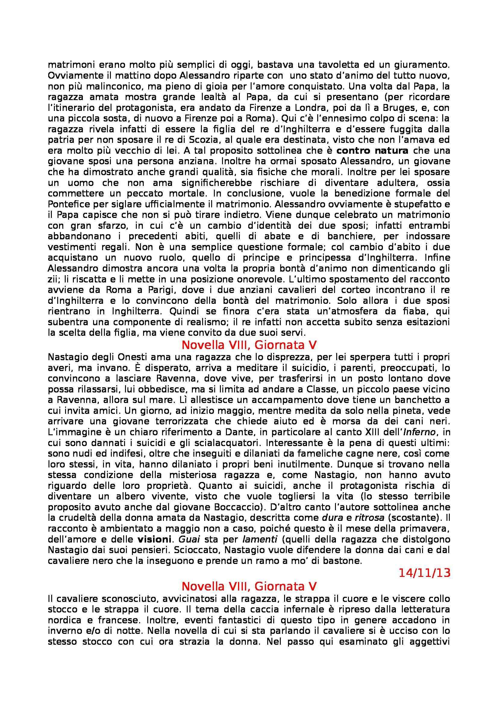 Letteratura Italiana - Boccaccio e Decameron Pag. 16