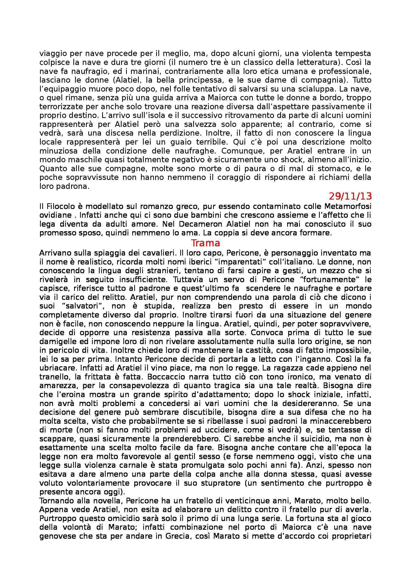 Letteratura Italiana - Boccaccio e Decameron Pag. 26