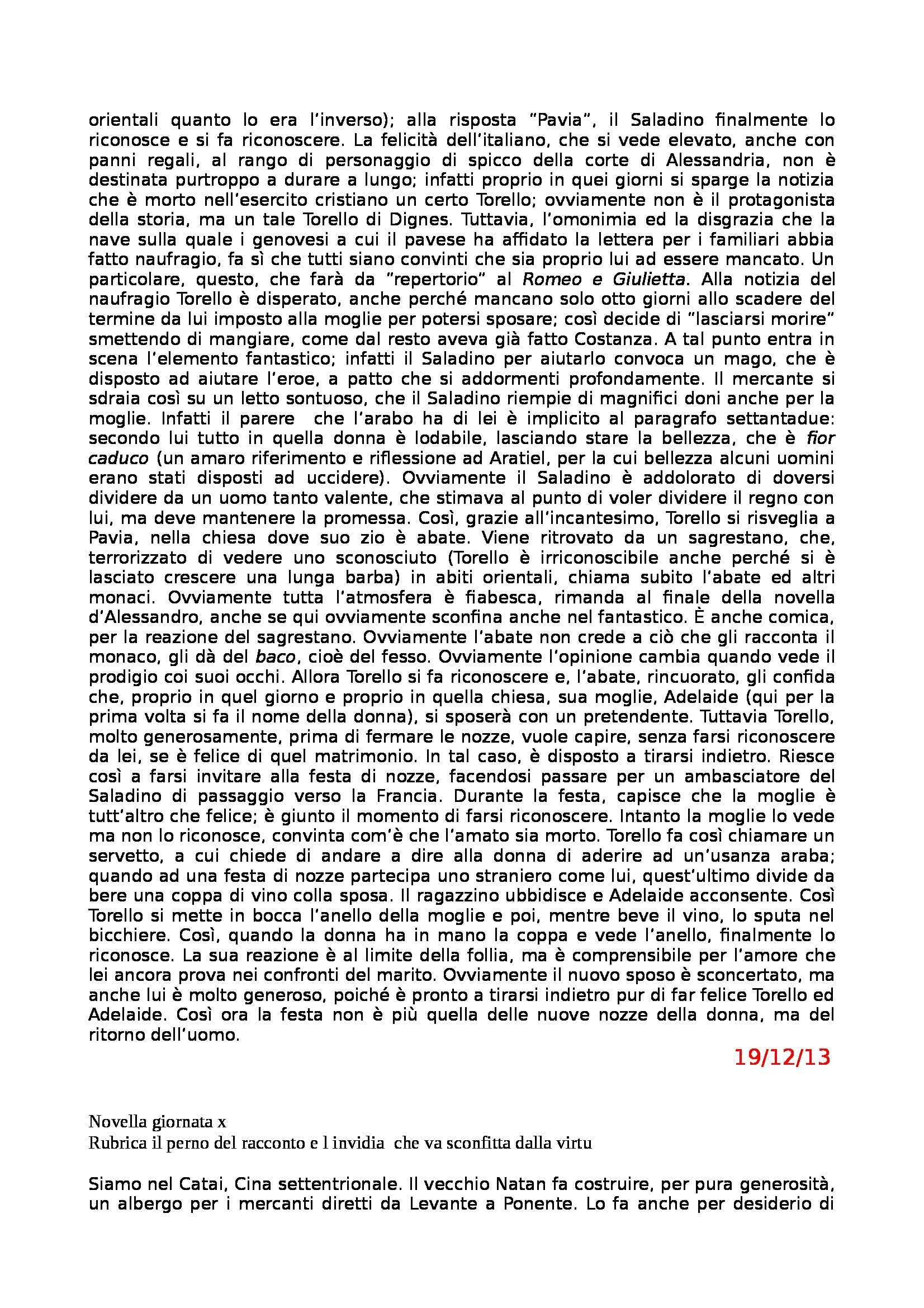 Letteratura Italiana - Boccaccio e Decameron Pag. 31