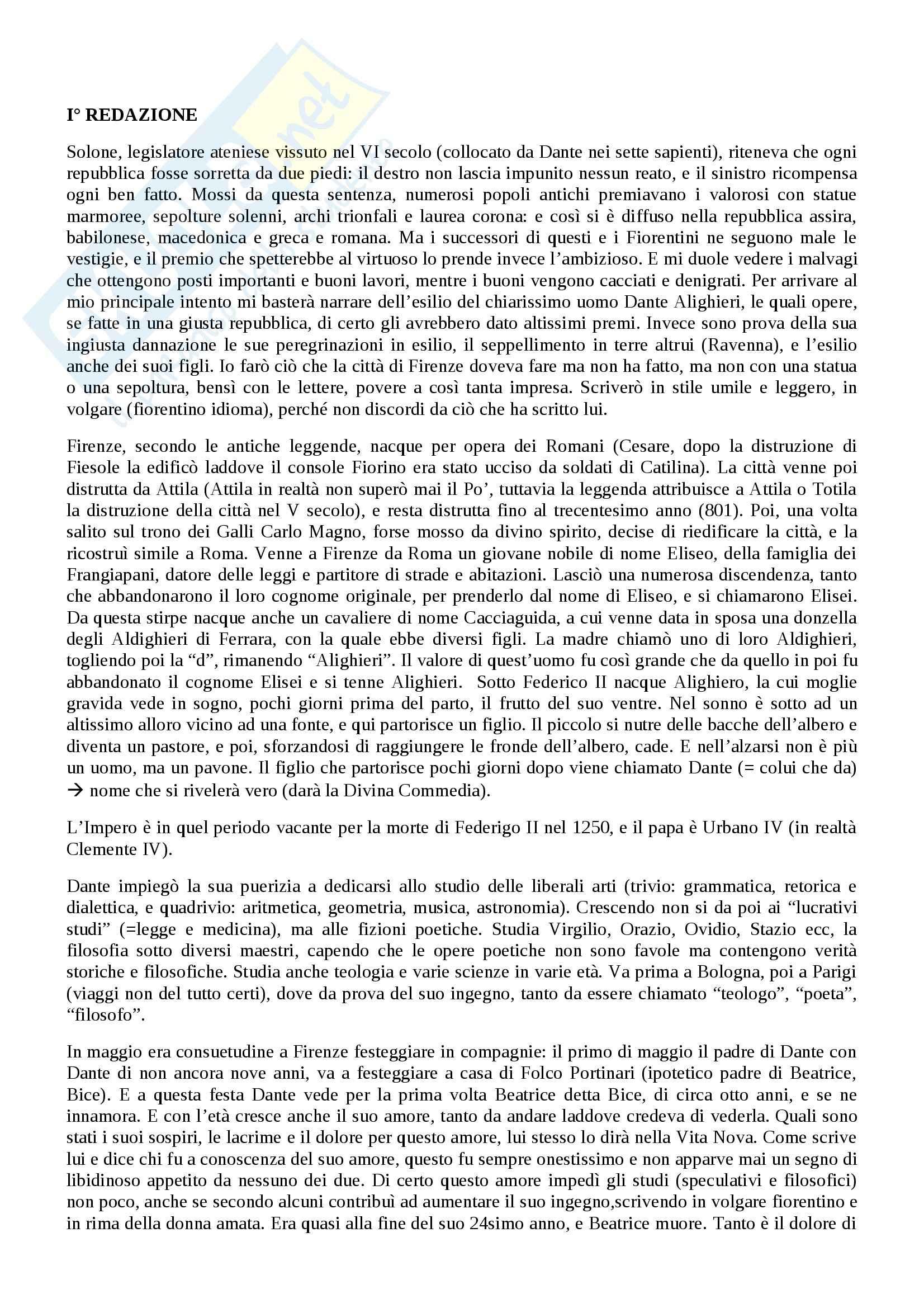 Riassunto esame Letteratura italiana, prof. Viola, libro consigliato Trattatello in laude di Boccaccio
