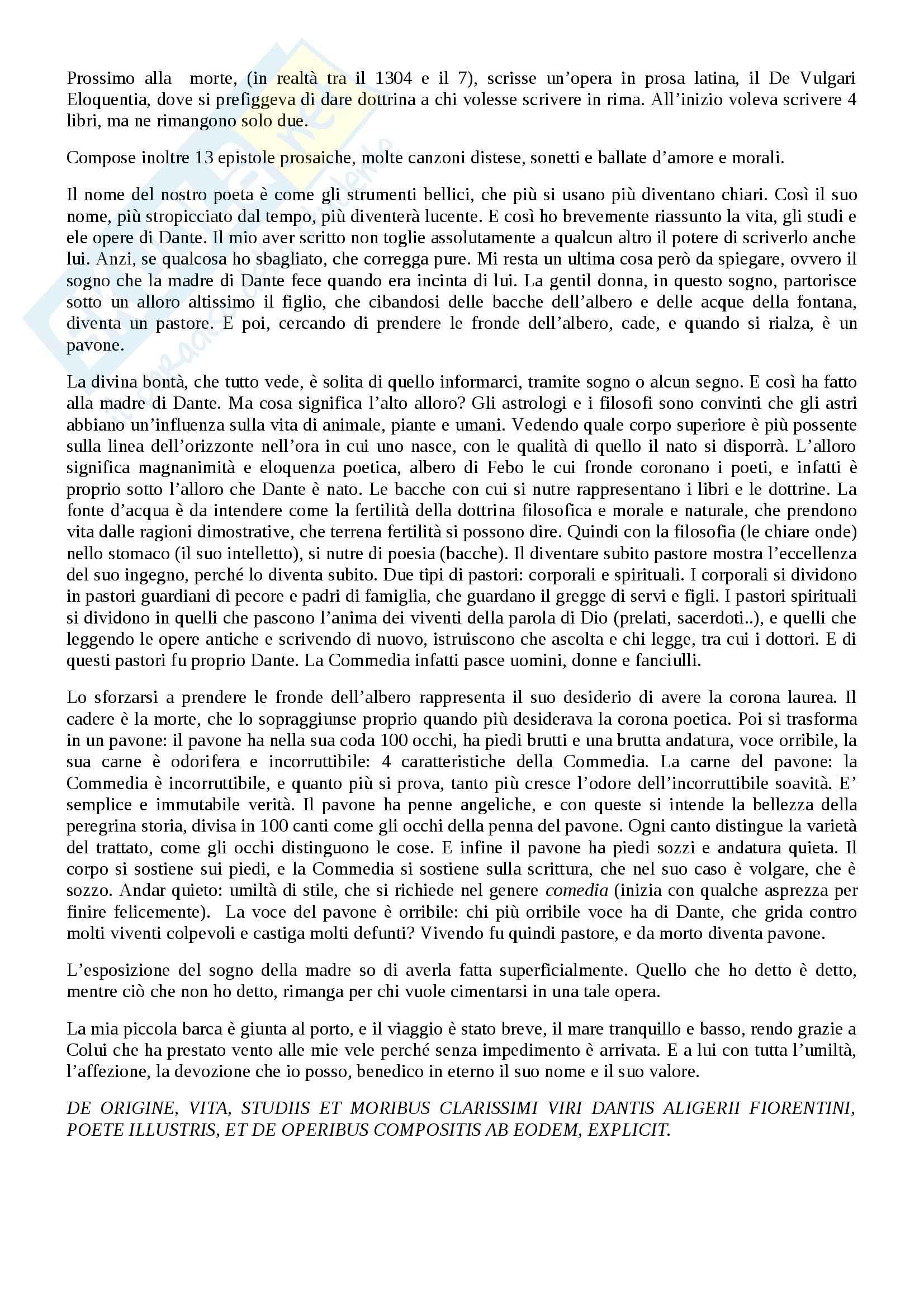 Riassunto esame Letteratura italiana, prof. Viola, libro consigliato Trattatello in laude di Boccaccio Pag. 6