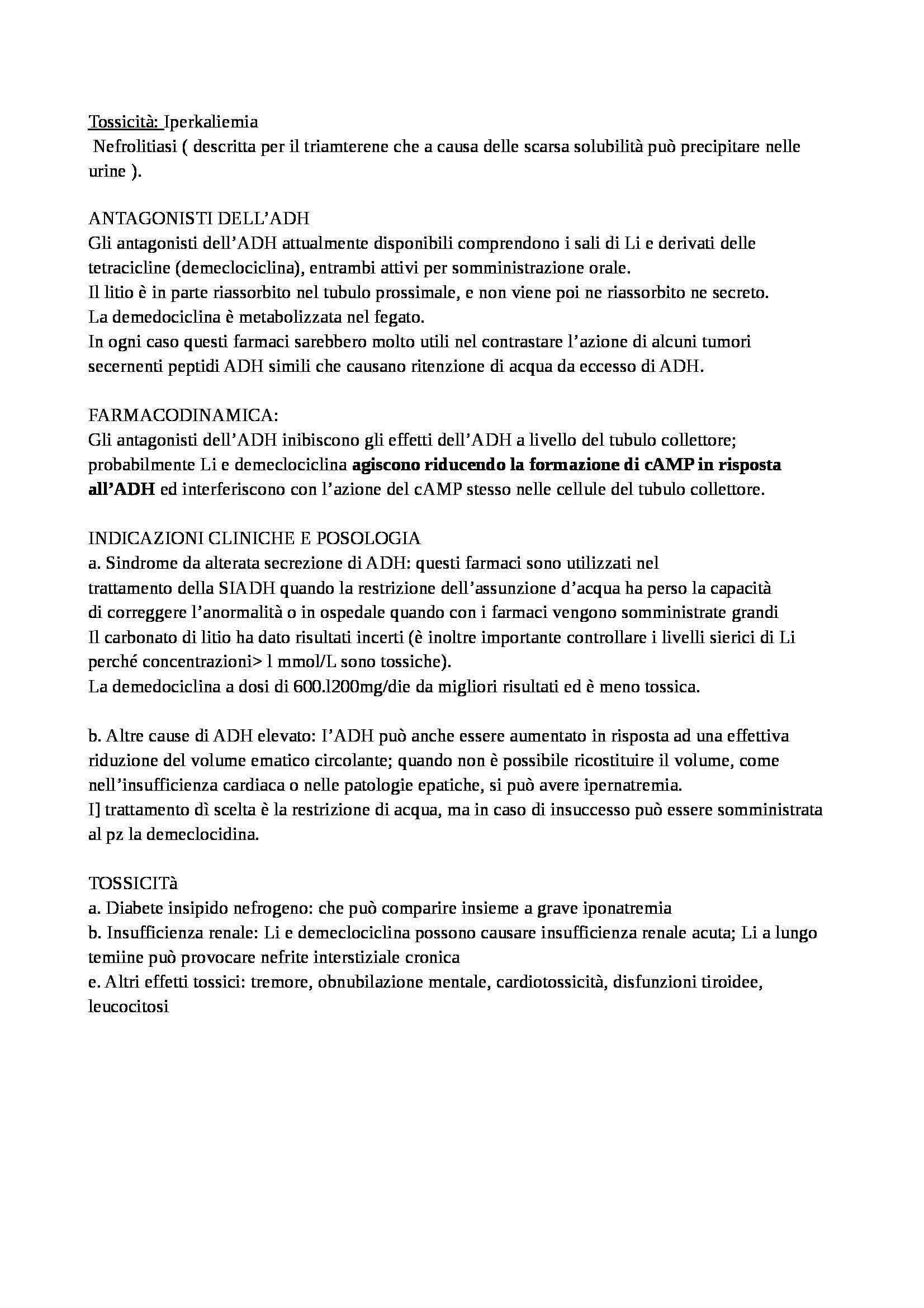 Farmacologia - diuretici Pag. 16
