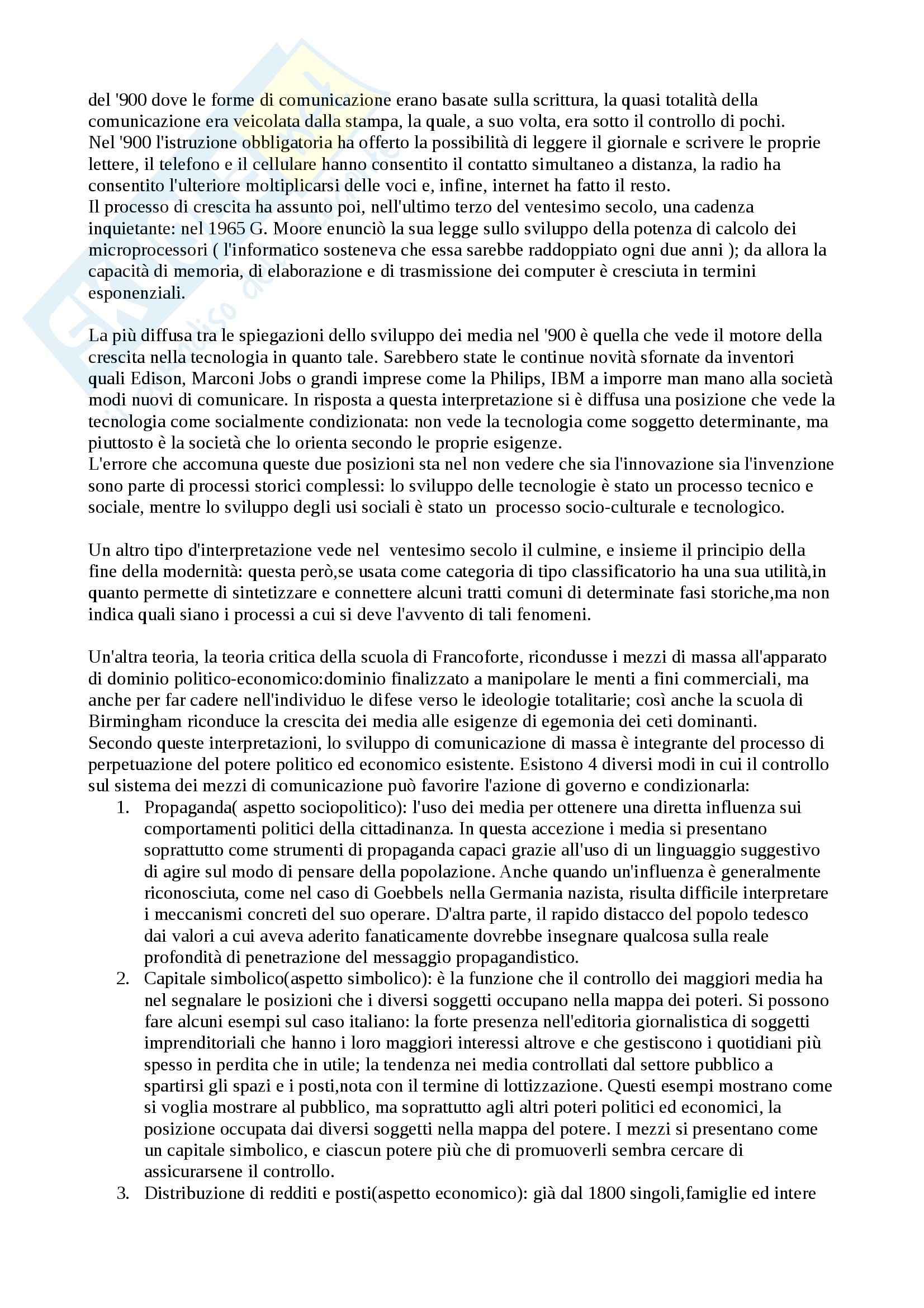 Riassunto esame Media: Storia e teoria,, prof. Ortoleva, libro consigliato Il secolo dei media. Riti, abitudini, mitologie, Ortoleva Pag. 2