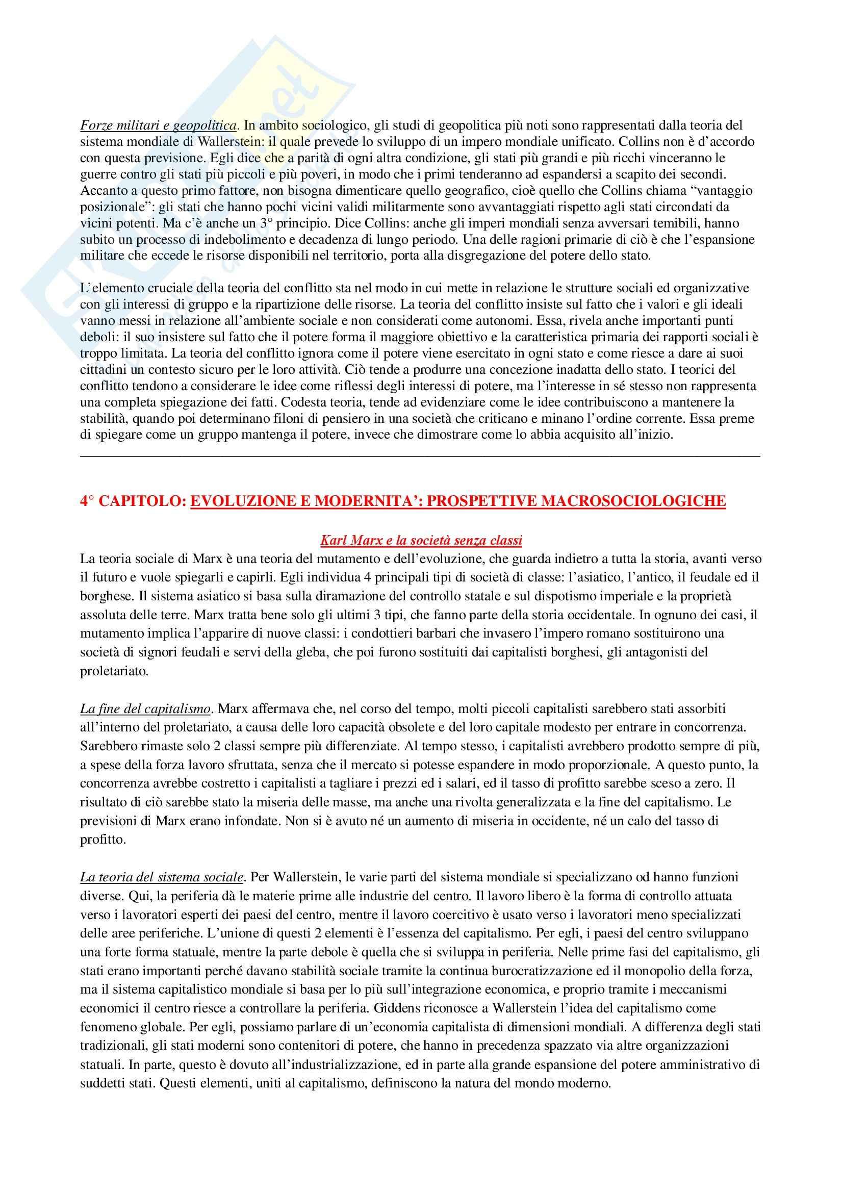 Riassunto esame Sociologia Generale, prof. Di Gennaro, libro consigliato La Teoria Sociologica Contemporanea, Wallace, Wolf Pag. 16