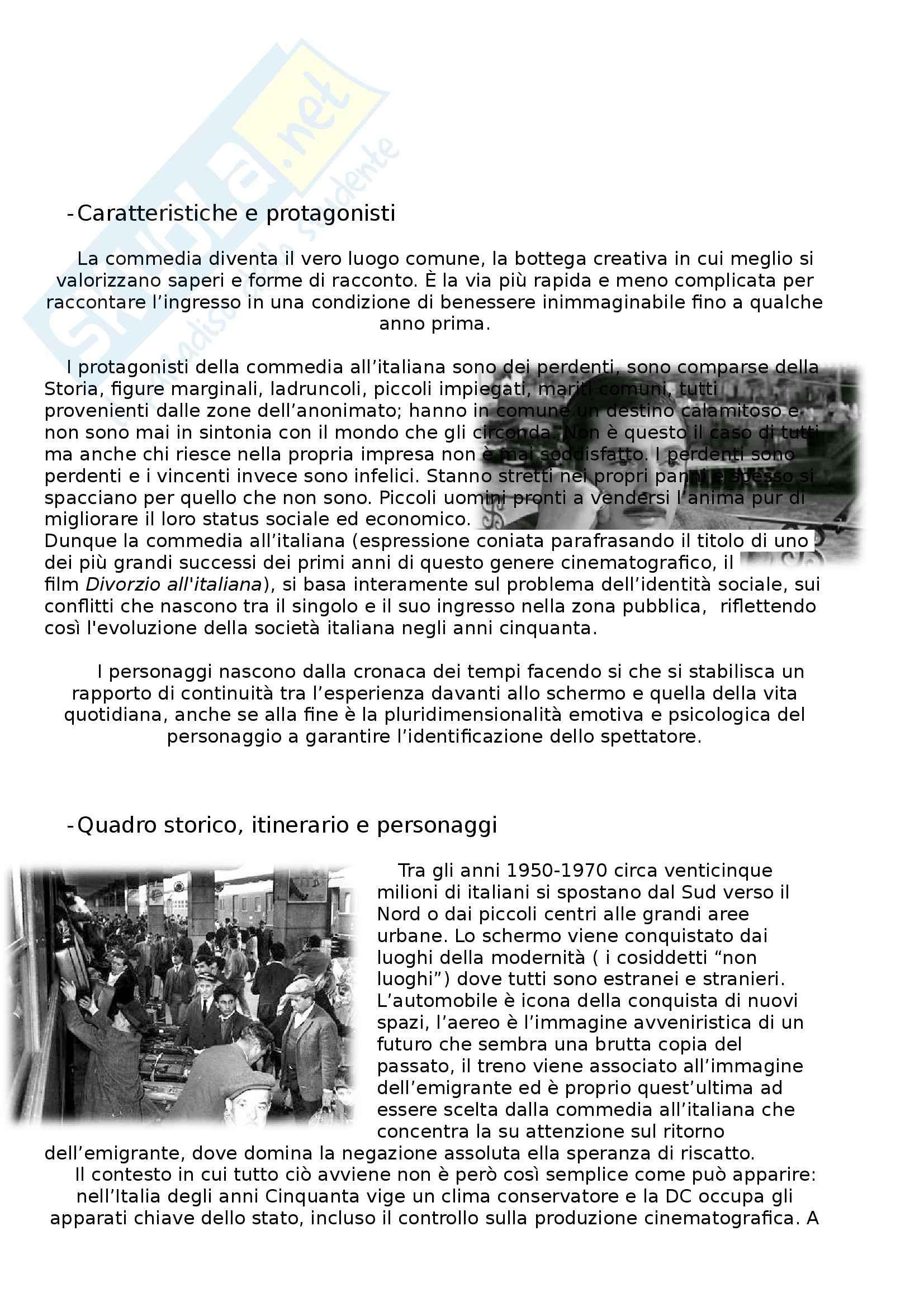 Riassunto esame Storia del cinema italiano, prof. Natalini, libro consigliato La commedia all'italiana, Giacovelli