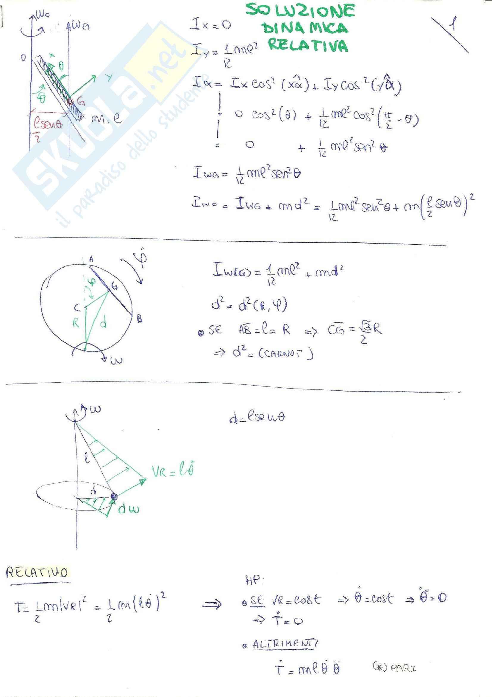 Meccanica razionale: teoria + formule Pag. 36