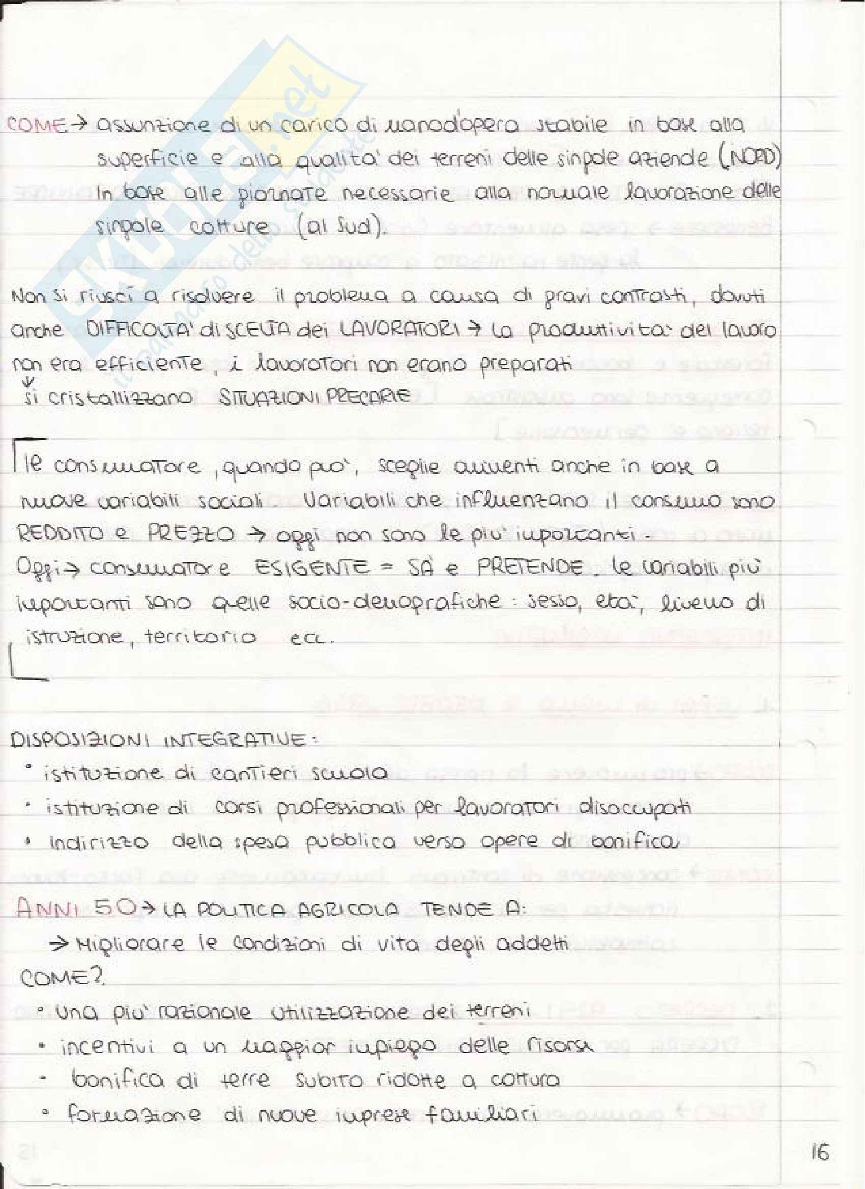 Economia e Politica Agraria - Appunti Pag. 16