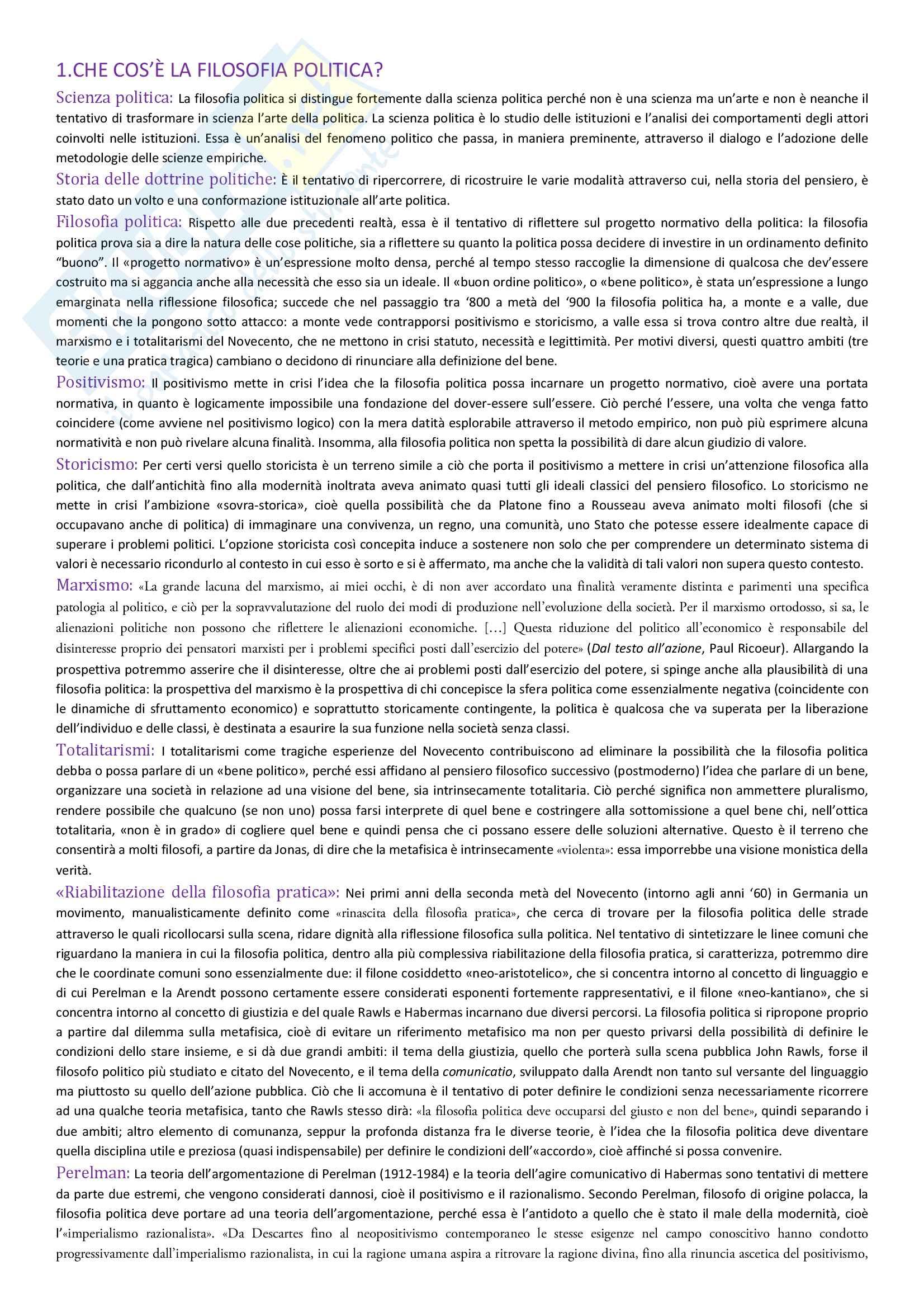 Istituzioni di Filosofia Politica, Intero Corso - Luca Alici
