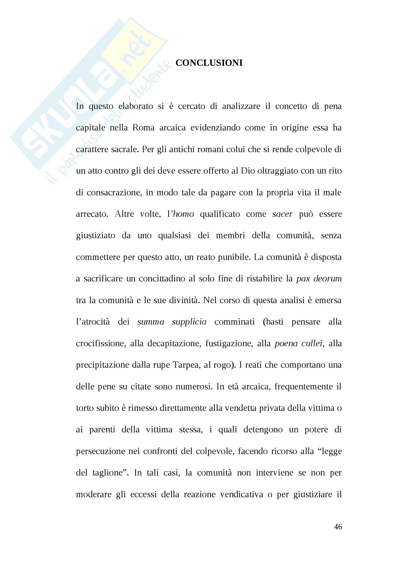Tesi pena di morte antica Roma Pag. 46