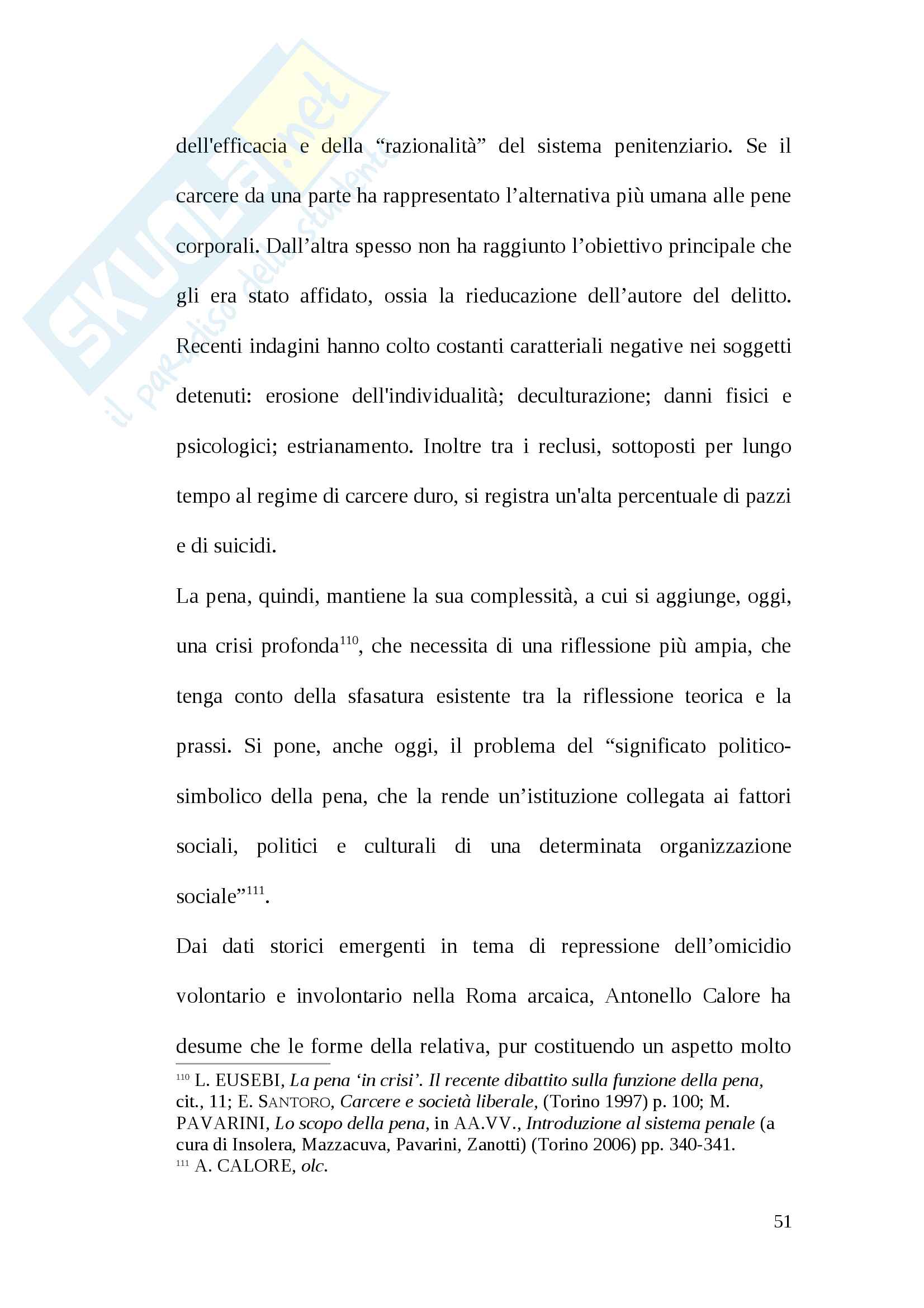 Tesi pena di morte antica Roma Pag. 51