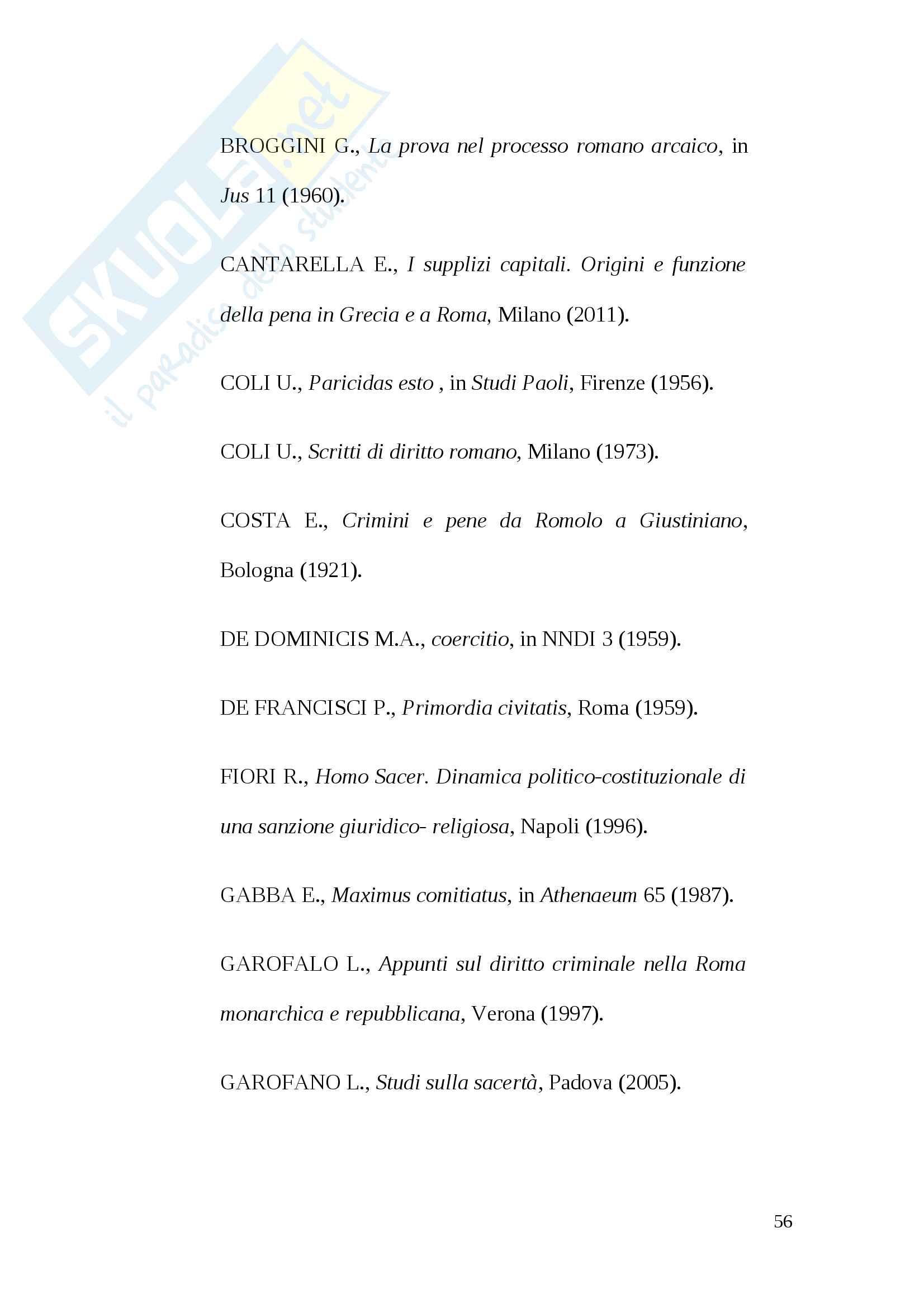 Tesi pena di morte antica Roma Pag. 56
