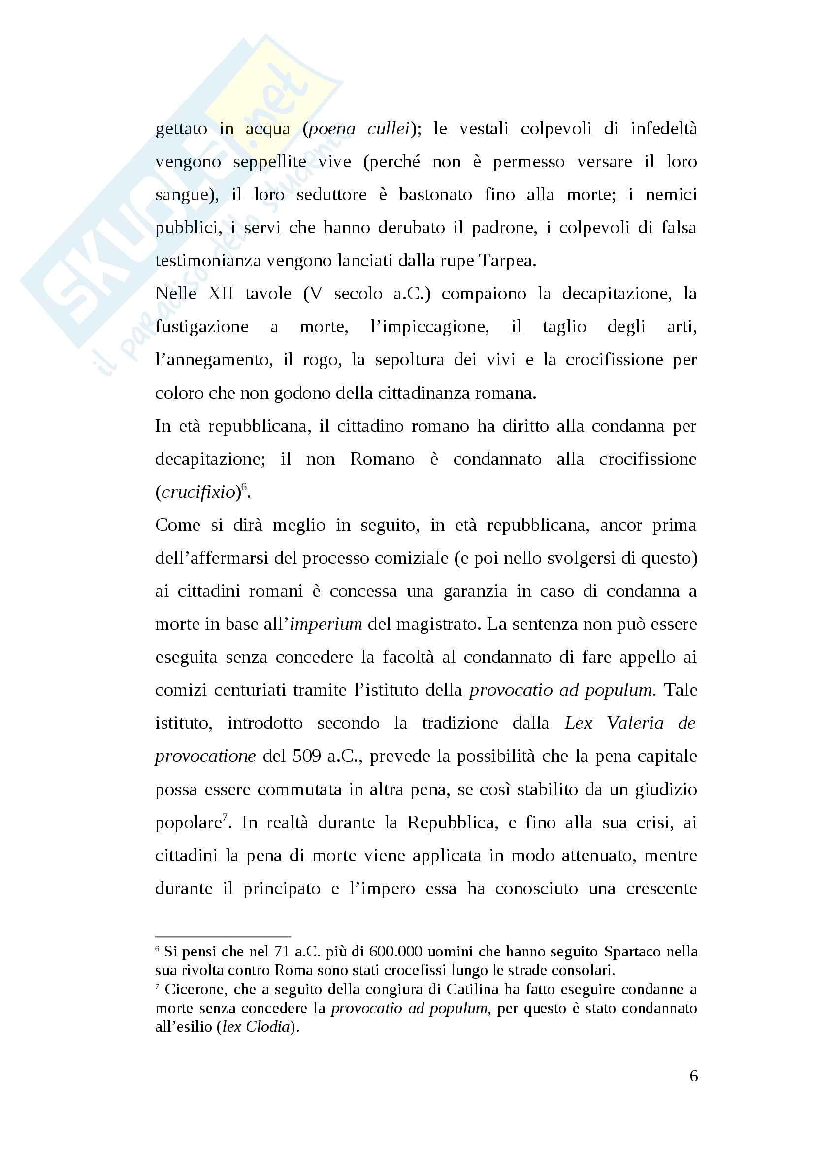 Tesi pena di morte antica Roma Pag. 6