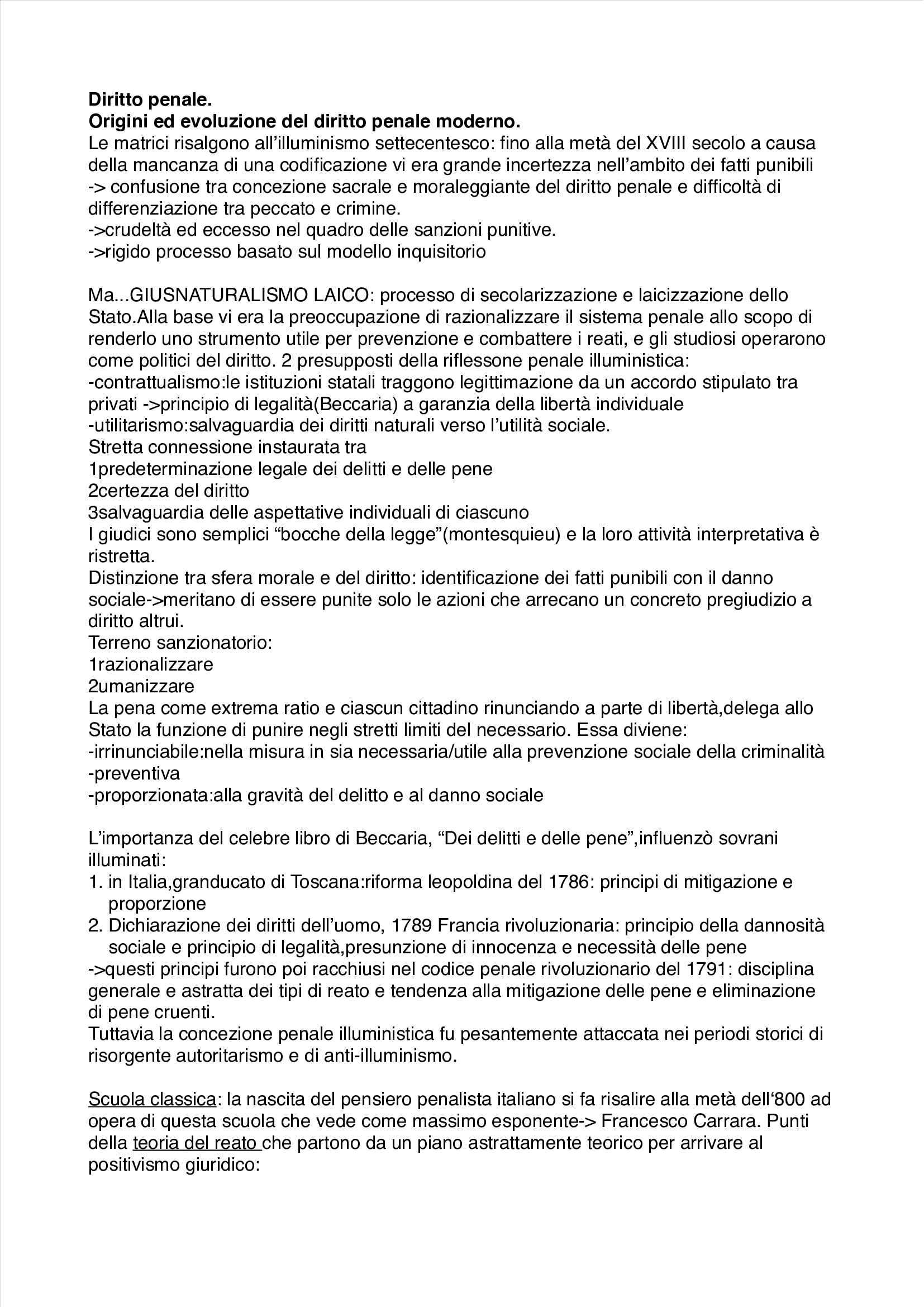 Riassunto esame Diritto Penale, prof. Fornasari, libro consigliato Diritto Penale: Parte Generale di Fiandaca e Musco Pag. 1