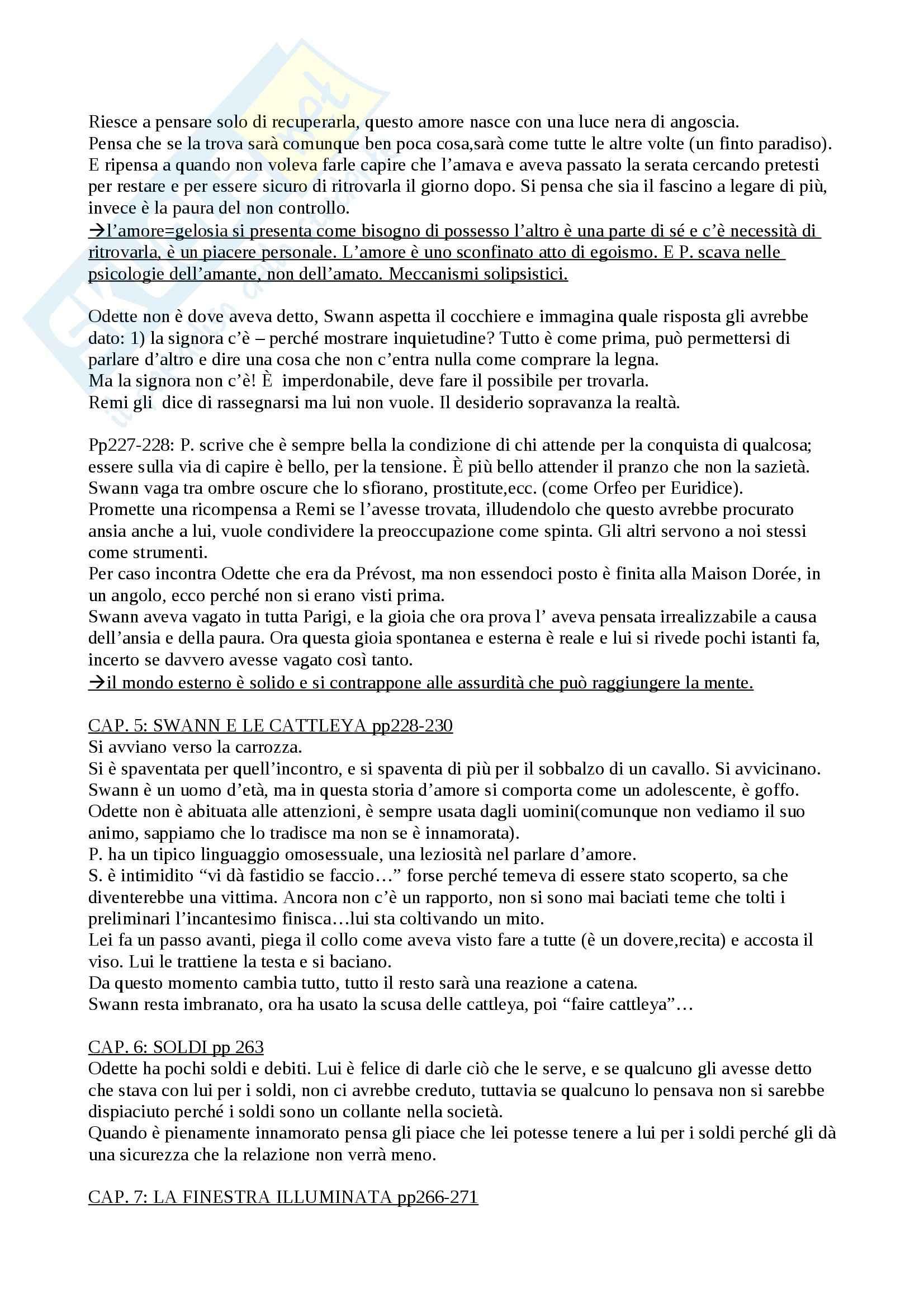 Opere di Proust, Letteratura francese Pag. 11