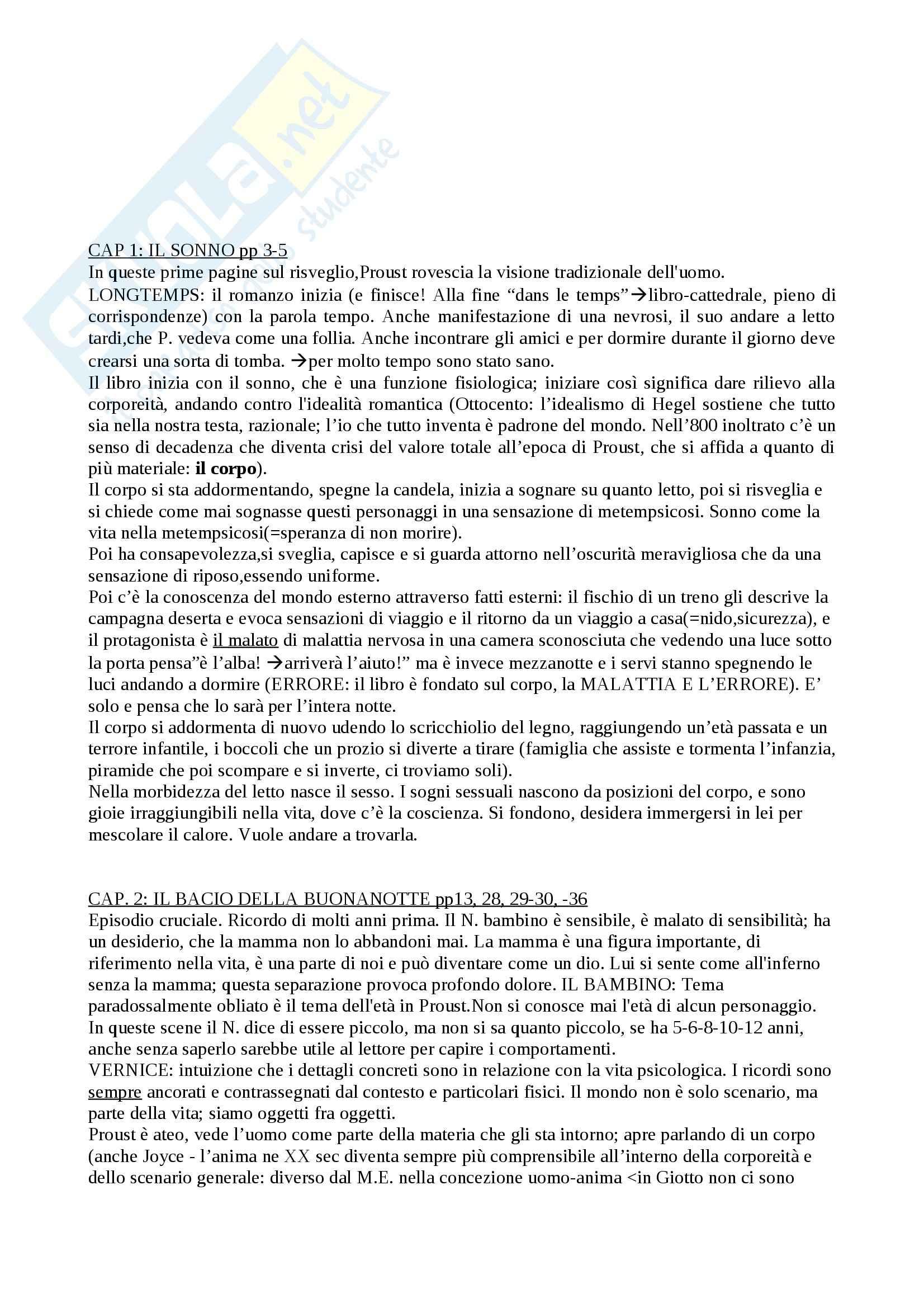 Opere di Proust, Letteratura francese Pag. 6