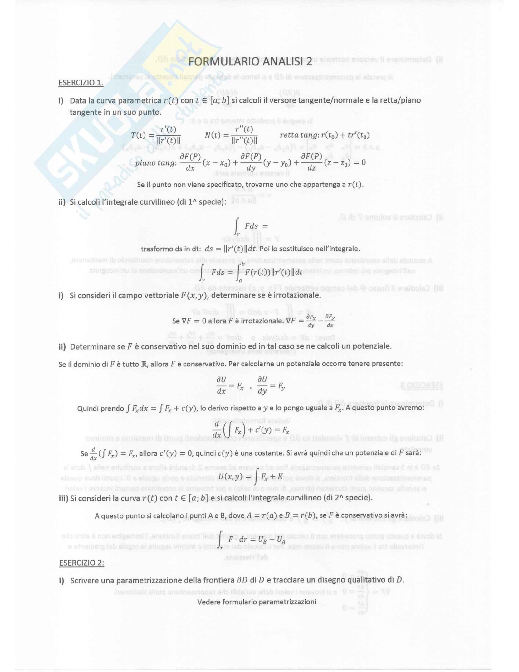 Formulario Analisi 2 Ancona