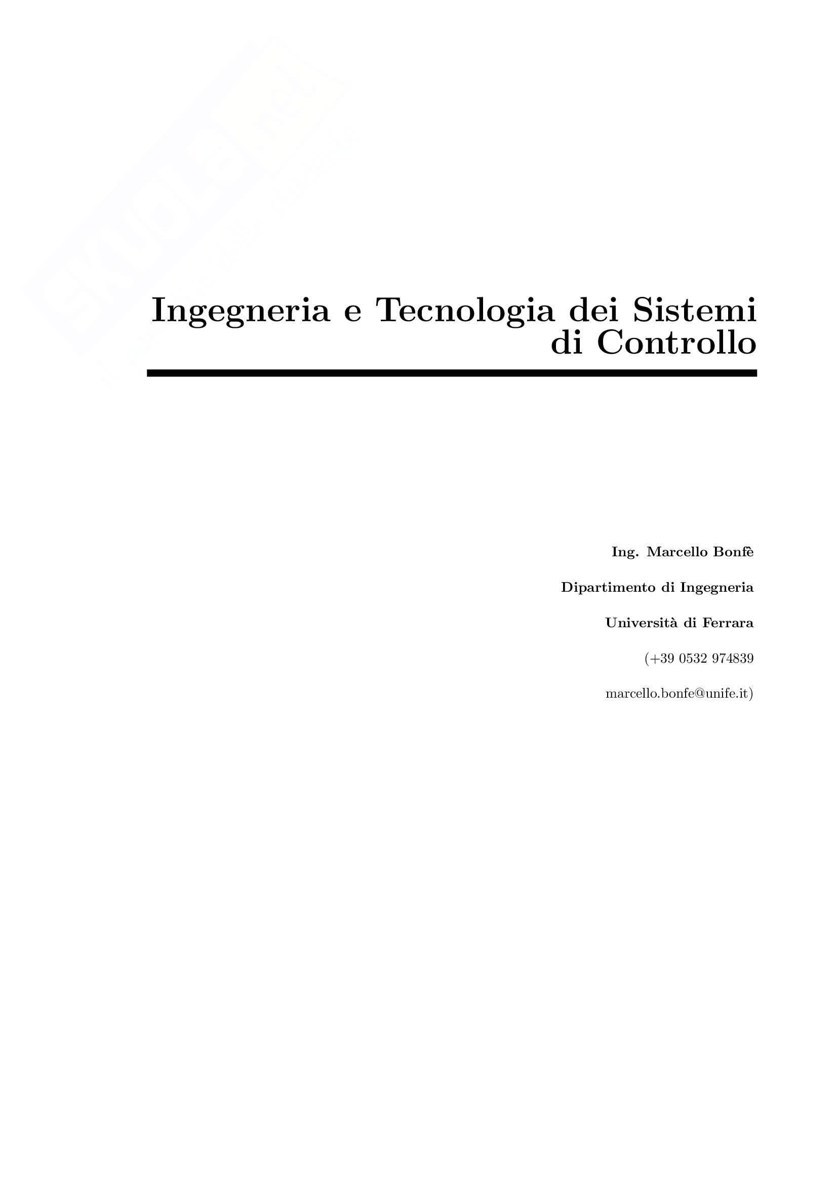 Ingegneria e tecnologia dei sistemi di controllo - i sensori di potenziamento
