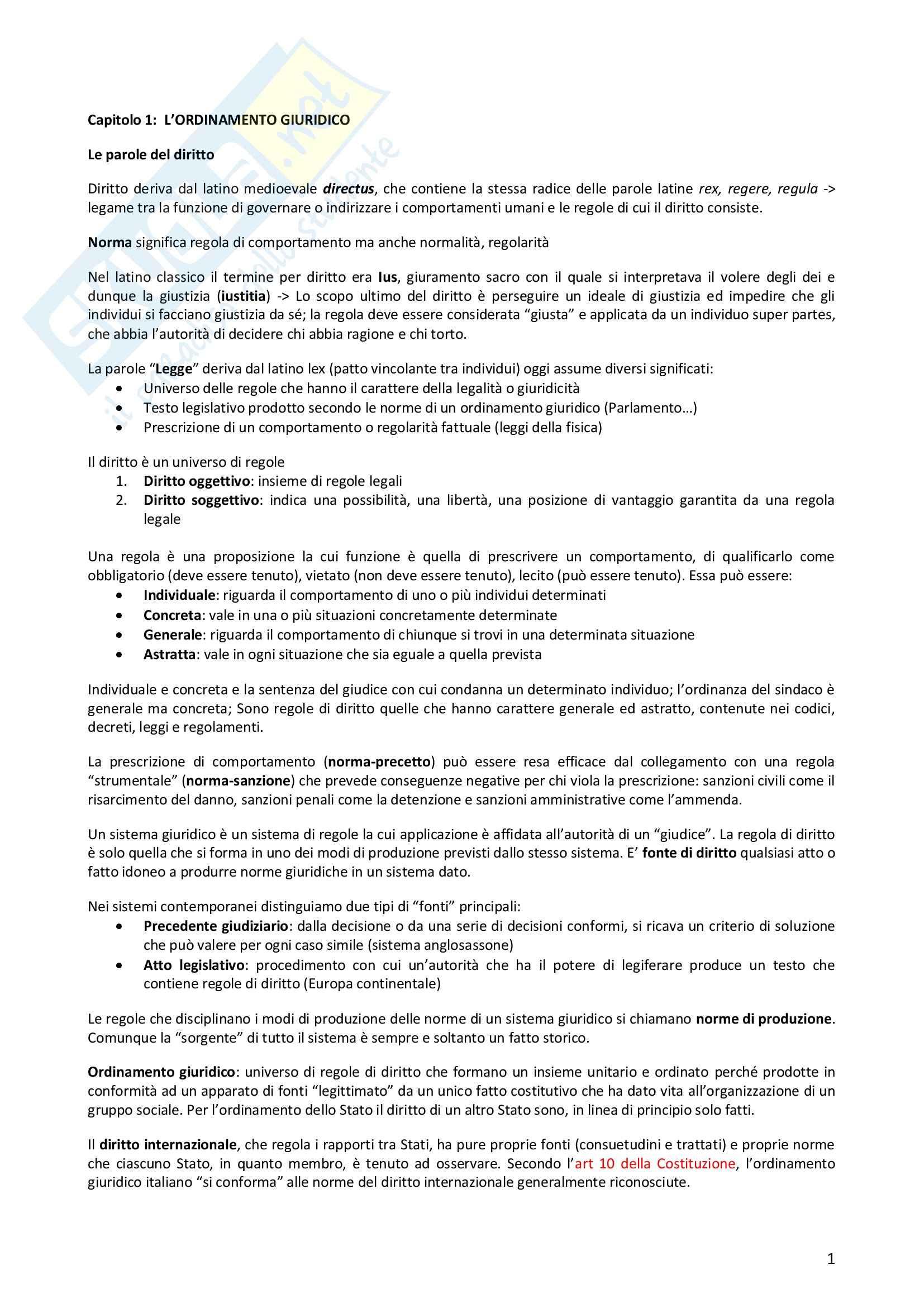Riassunto esame Diritto Privato, prof. Morlotti, libro consigliato Diritto Privato di Zatti