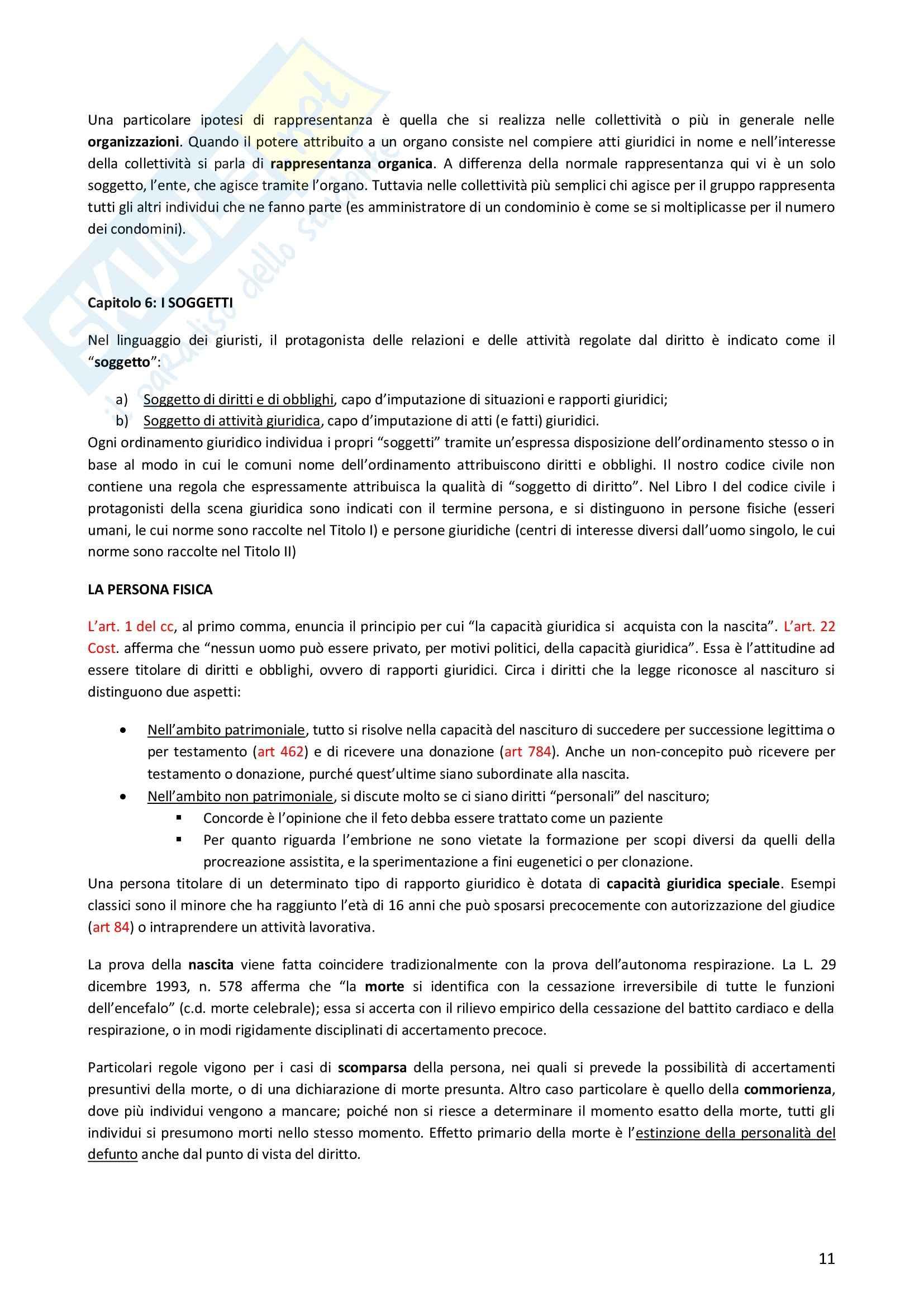 Riassunto esame Diritto Privato, prof. Morlotti, libro consigliato Diritto Privato di Zatti Pag. 11