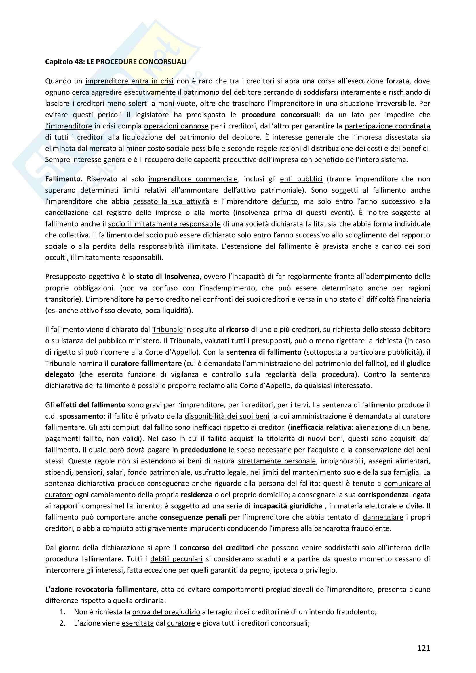 Riassunto esame Diritto Privato, prof. Morlotti, libro consigliato Diritto Privato di Zatti Pag. 121