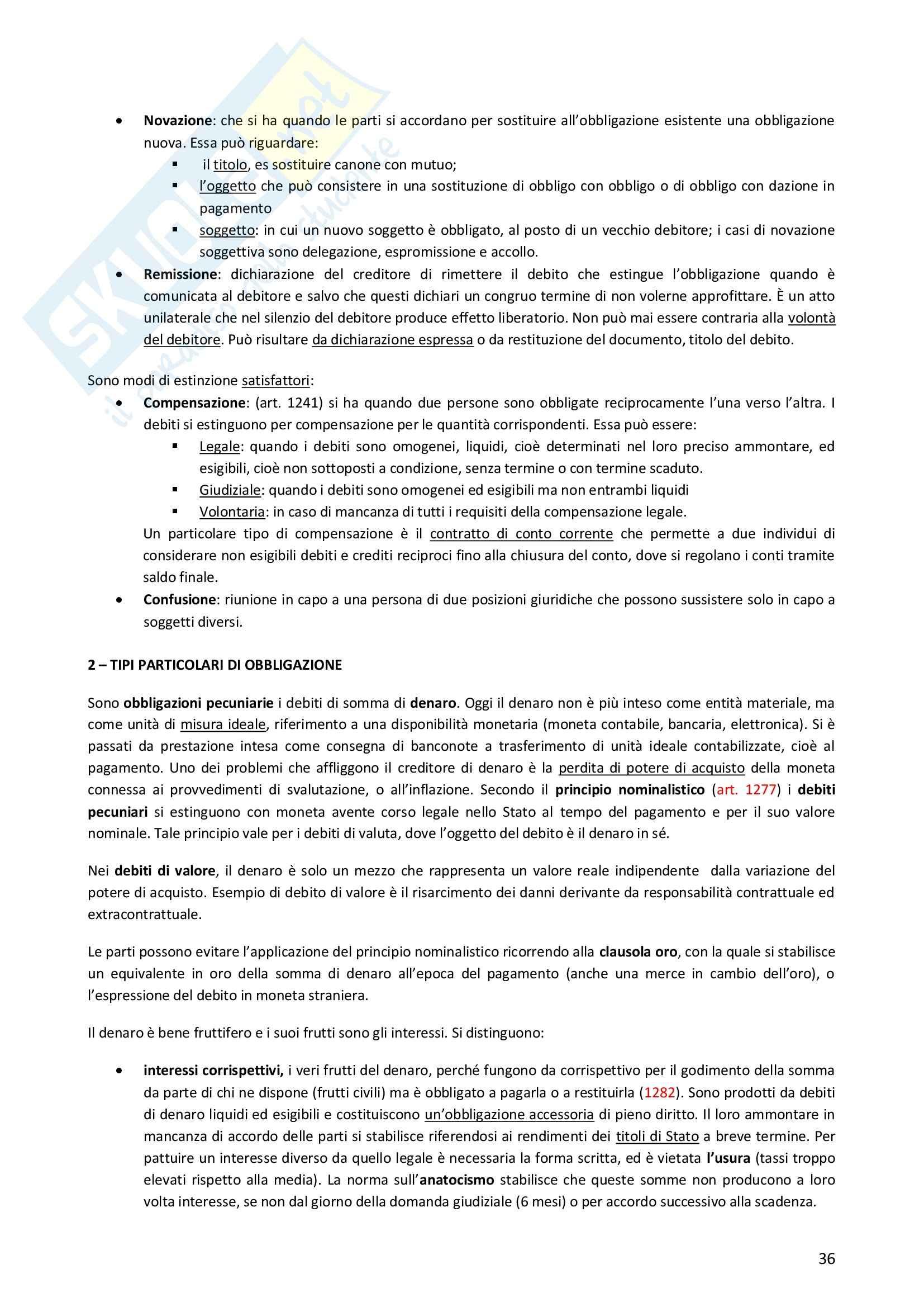 Riassunto esame Diritto Privato, prof. Morlotti, libro consigliato Diritto Privato di Zatti Pag. 36