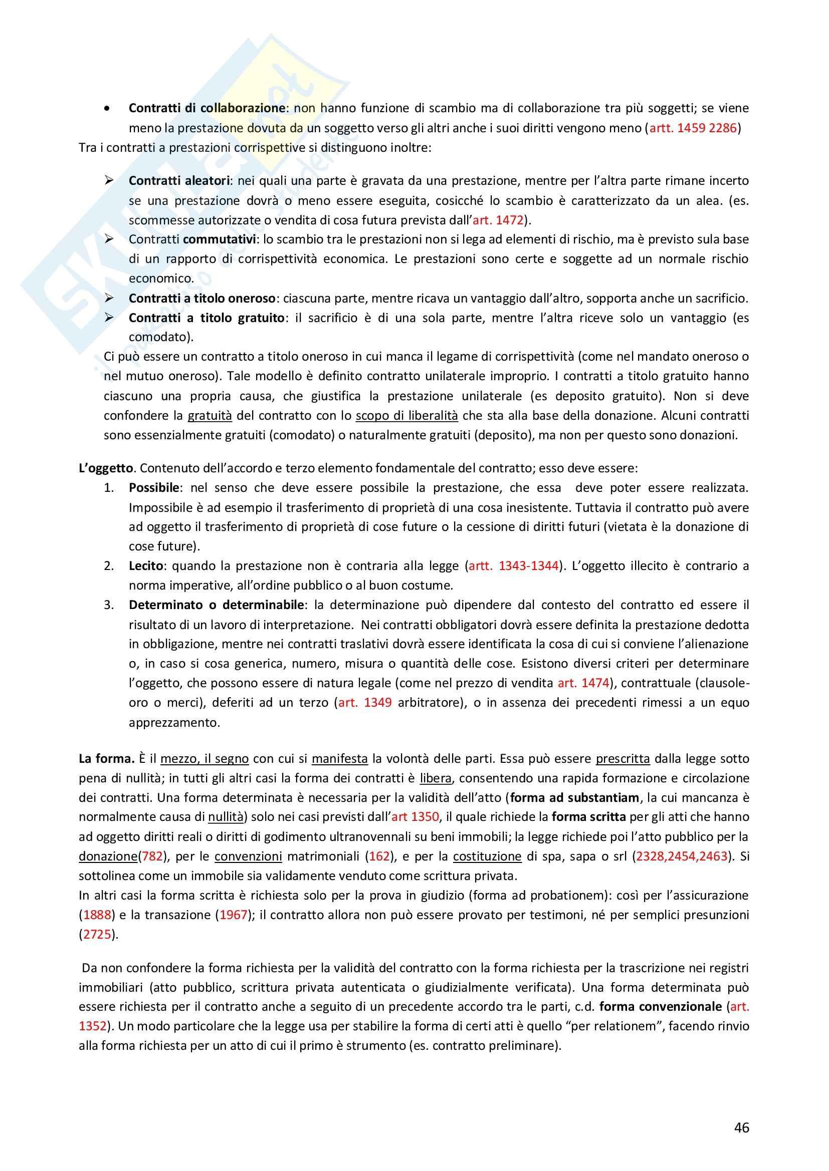 Riassunto esame Diritto Privato, prof. Morlotti, libro consigliato Diritto Privato di Zatti Pag. 46
