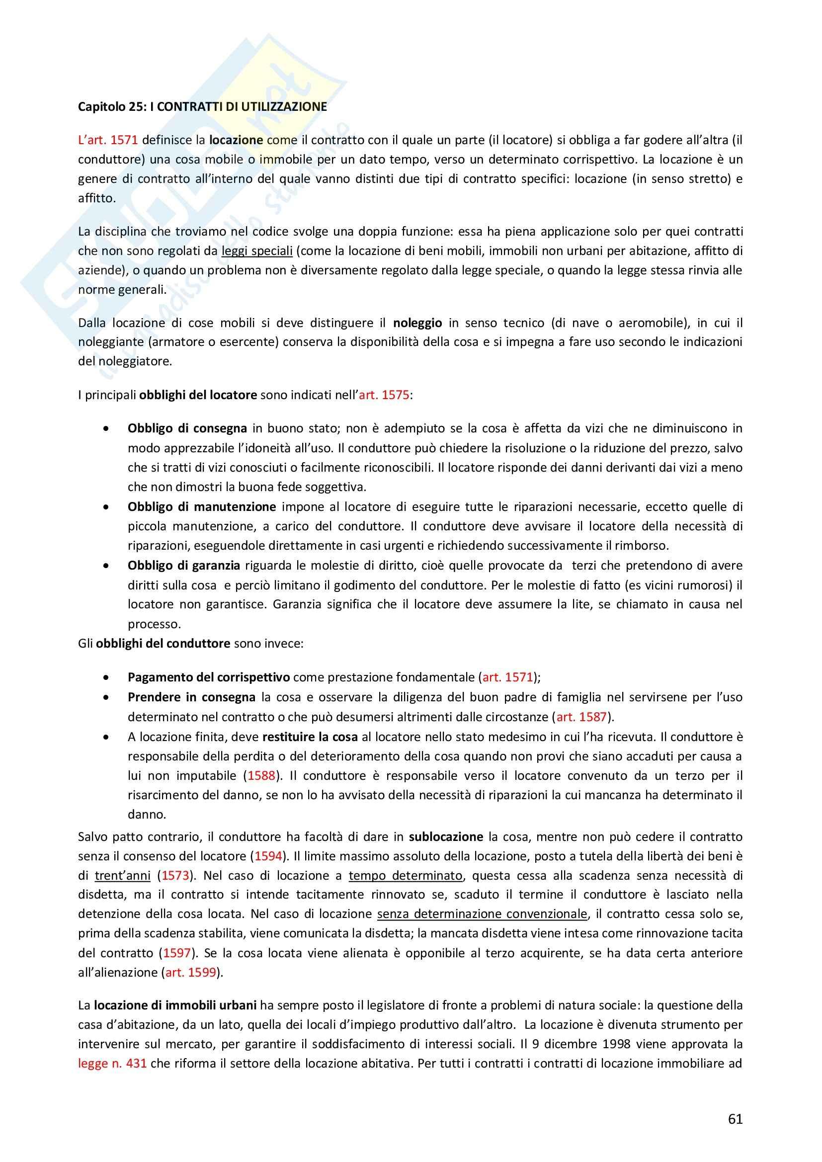 Riassunto esame Diritto Privato, prof. Morlotti, libro consigliato Diritto Privato di Zatti Pag. 61