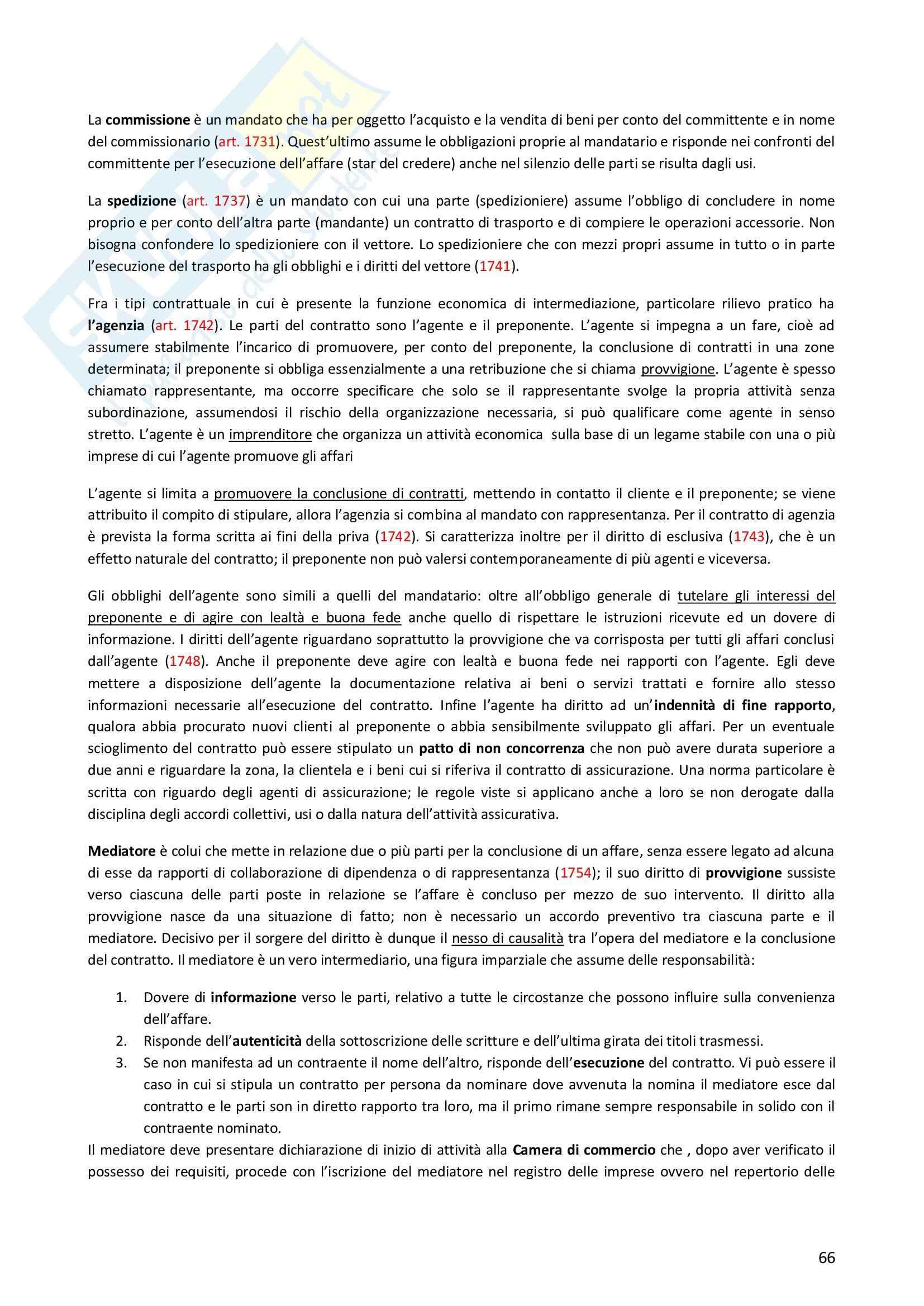Riassunto esame Diritto Privato, prof. Morlotti, libro consigliato Diritto Privato di Zatti Pag. 66