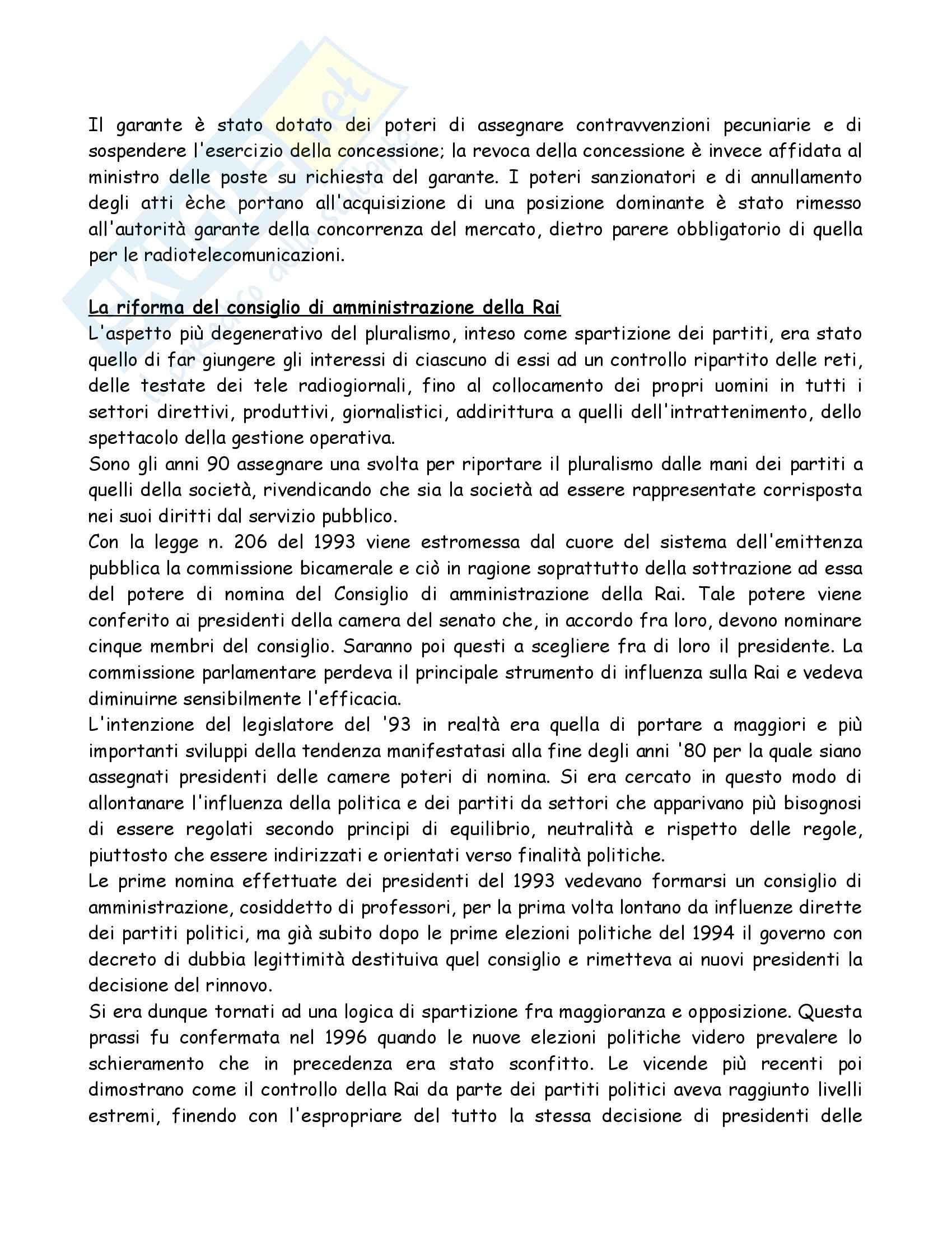 Riassunto esame Diritto dell'Informazione e della Comunicazione, prof. Gardini, libro consigliato Diritto dell'Informazione e Comunicazione, Colarullo Pag. 16