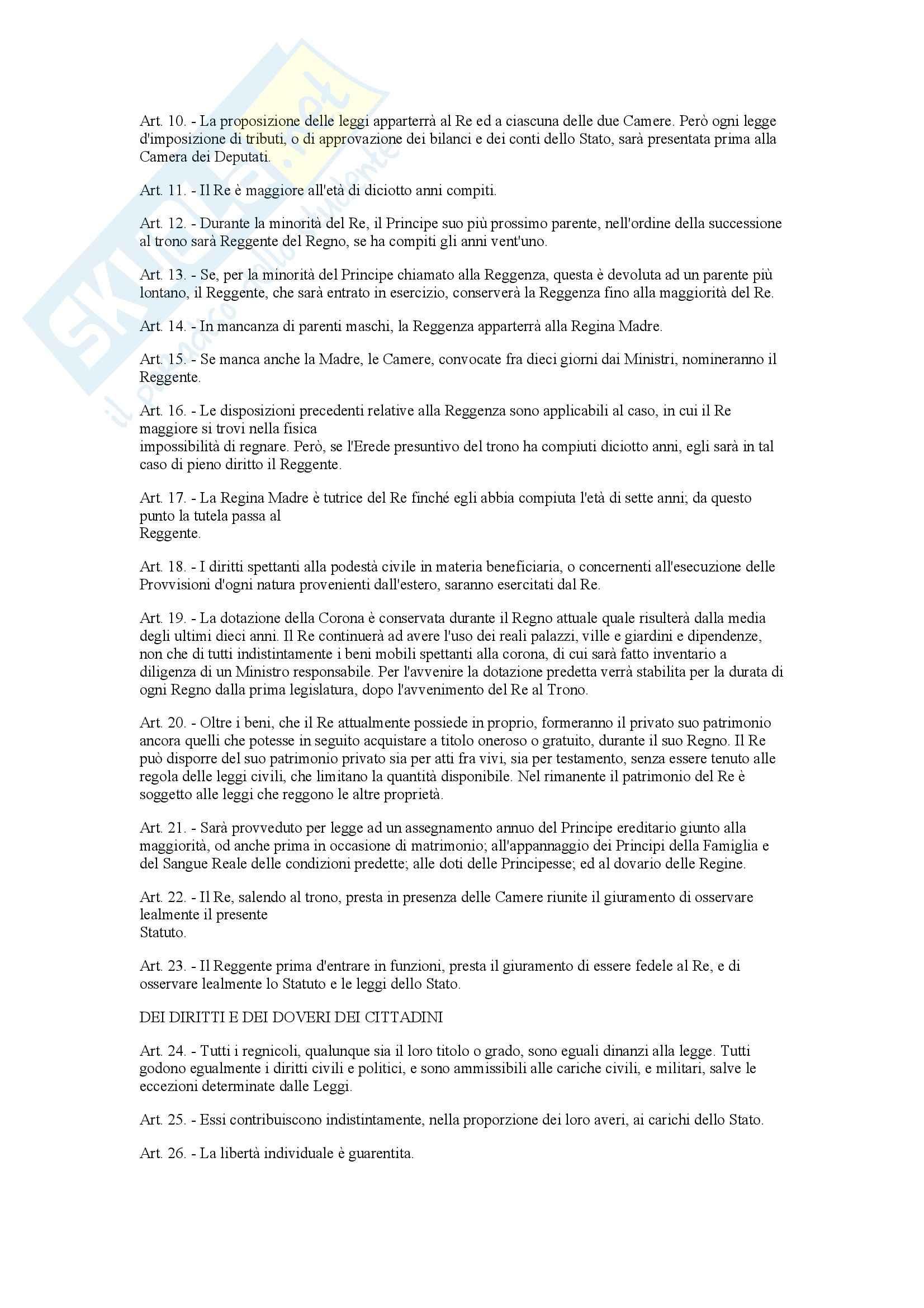 Statuto Albertino Pag. 2