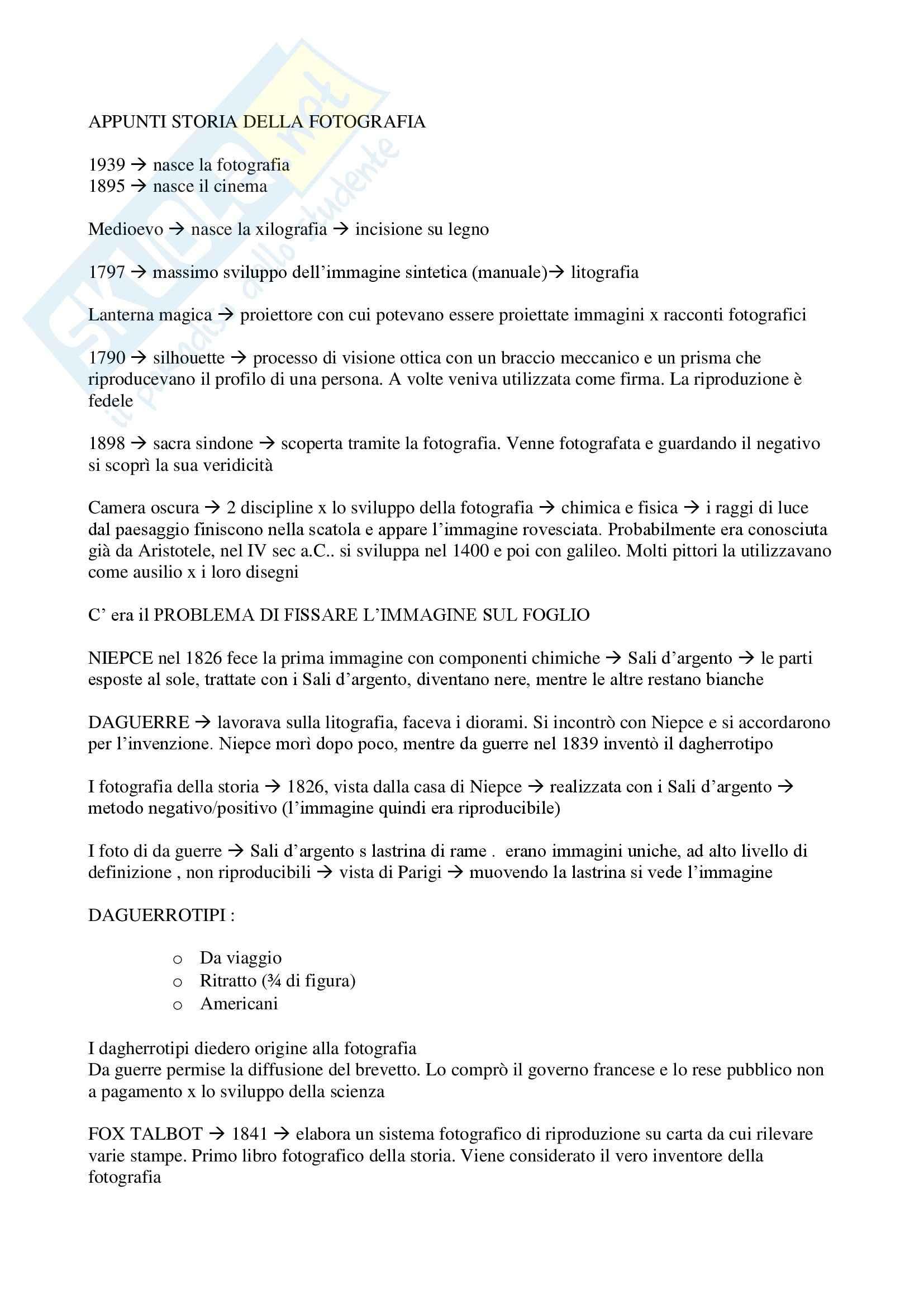 appunto G. D'Autilia Fotografia e documentazione visiva