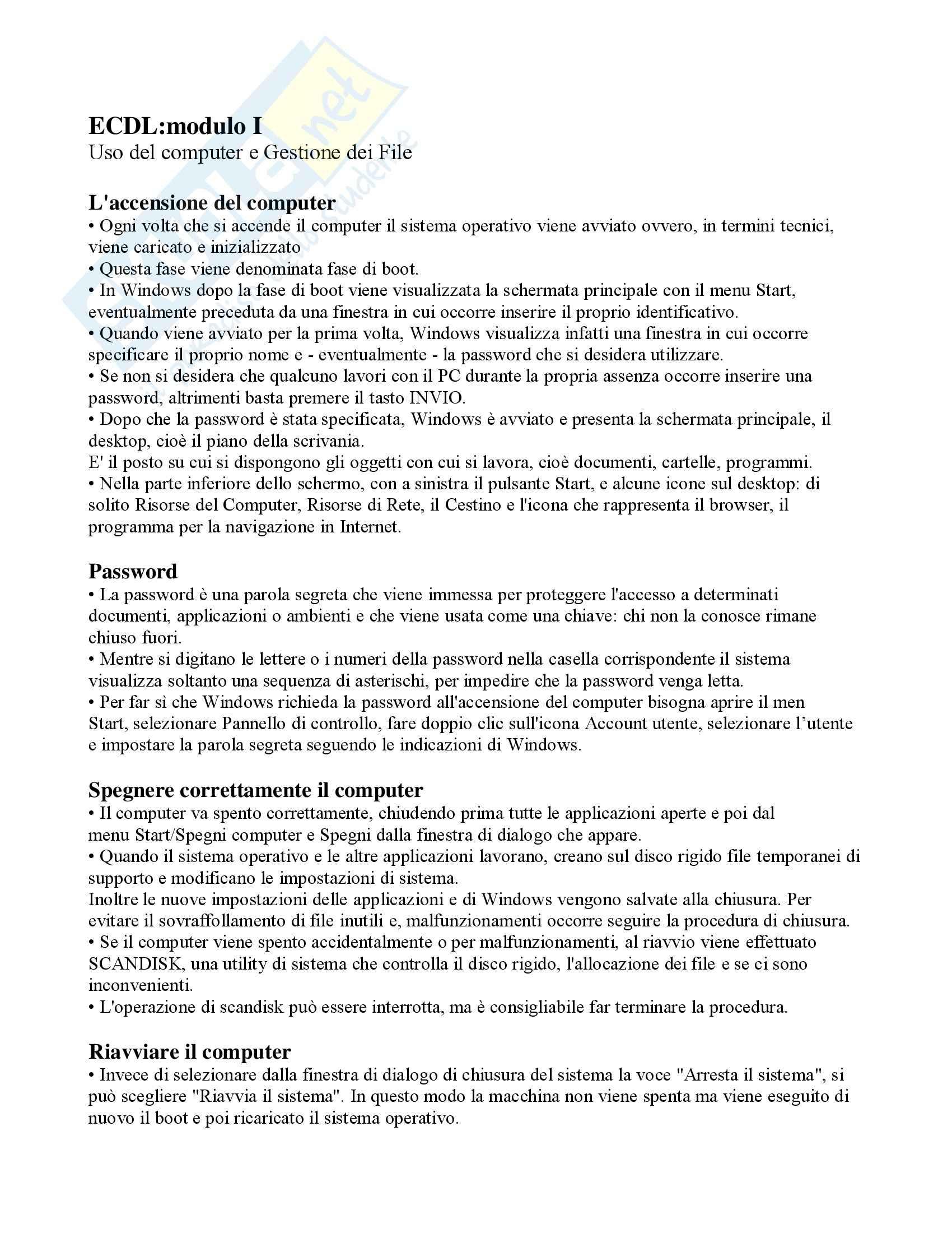 Abilità informatiche per giuristi - Gestione file