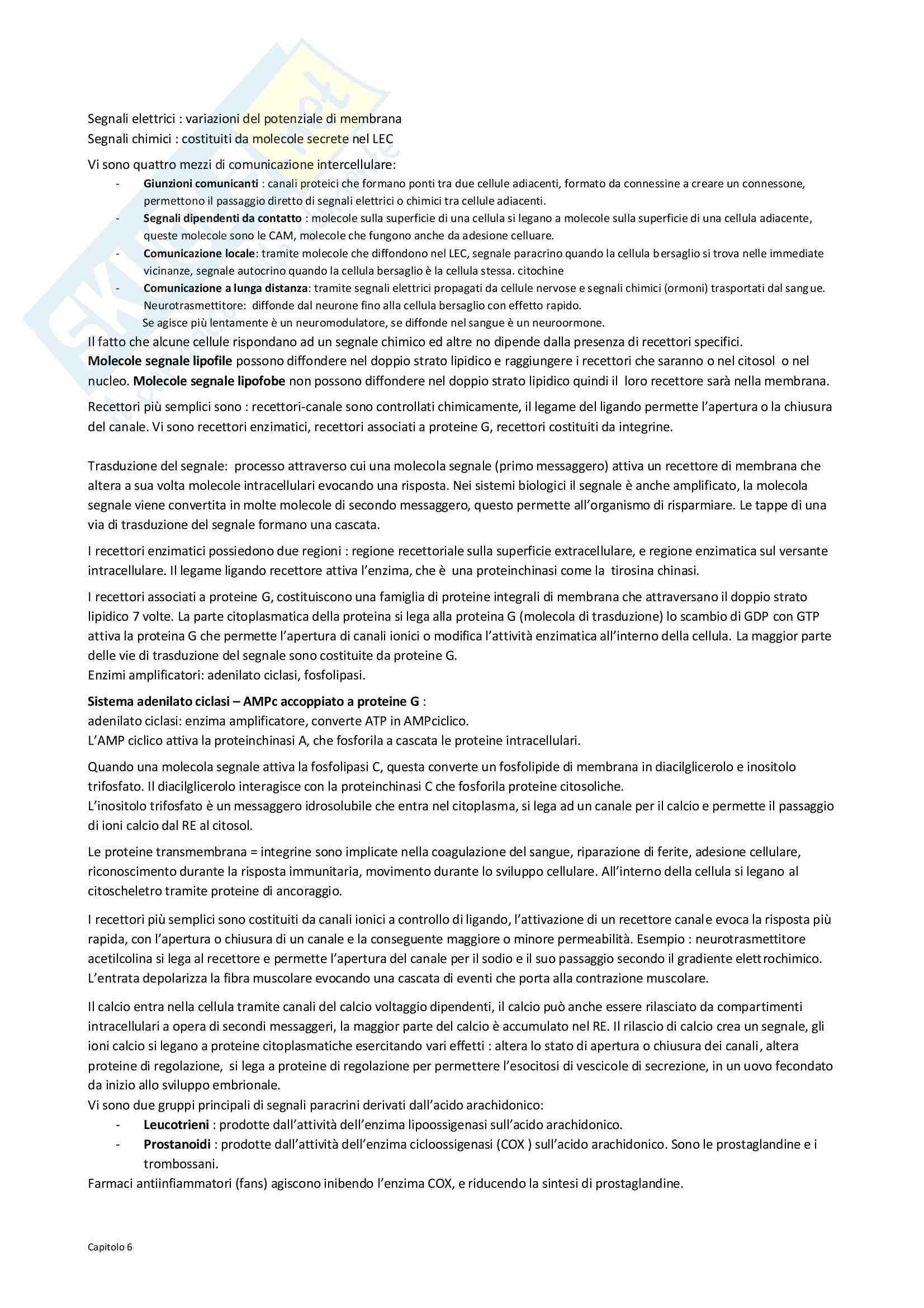 Fisiologia - comunicazione cellulare