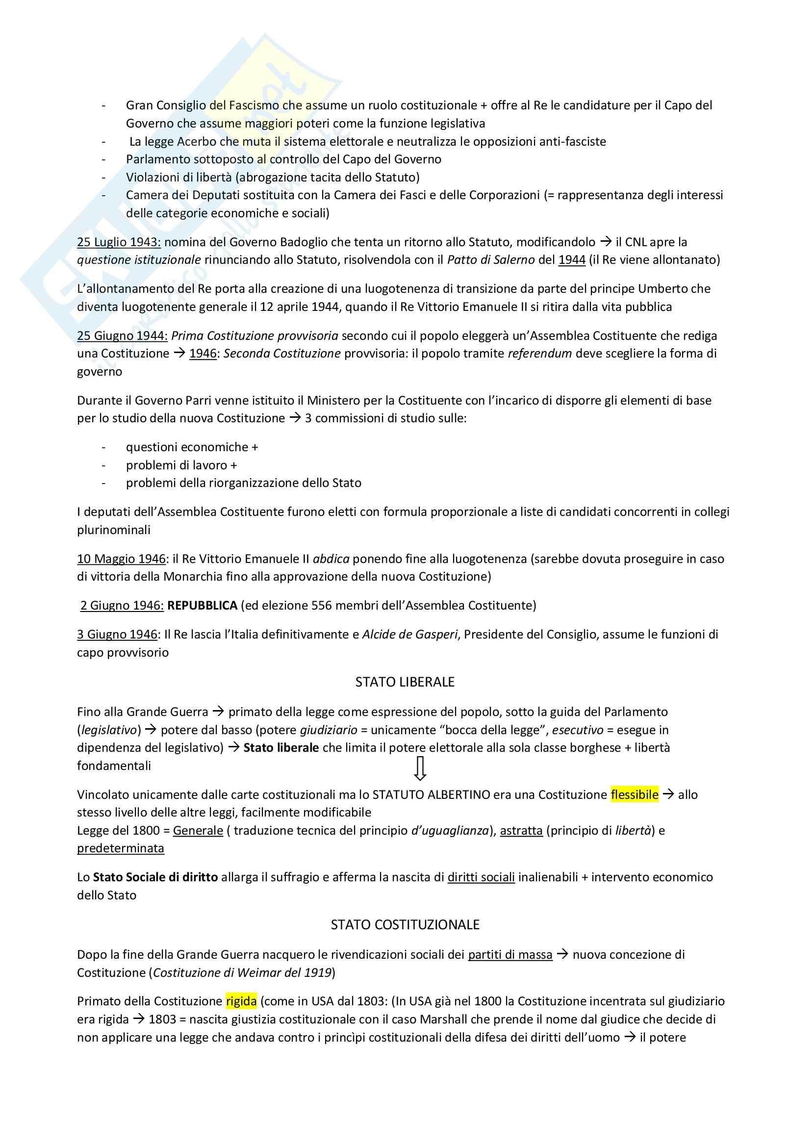 Riassunto esame Diritto Costituzionale, prof. D'Amico Pag. 2