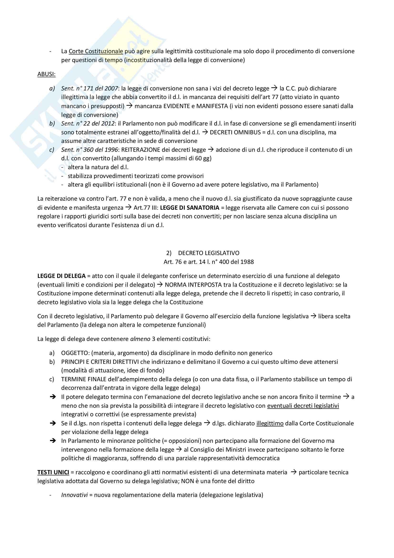 Riassunto esame Diritto Costituzionale, prof. D'Amico Pag. 21