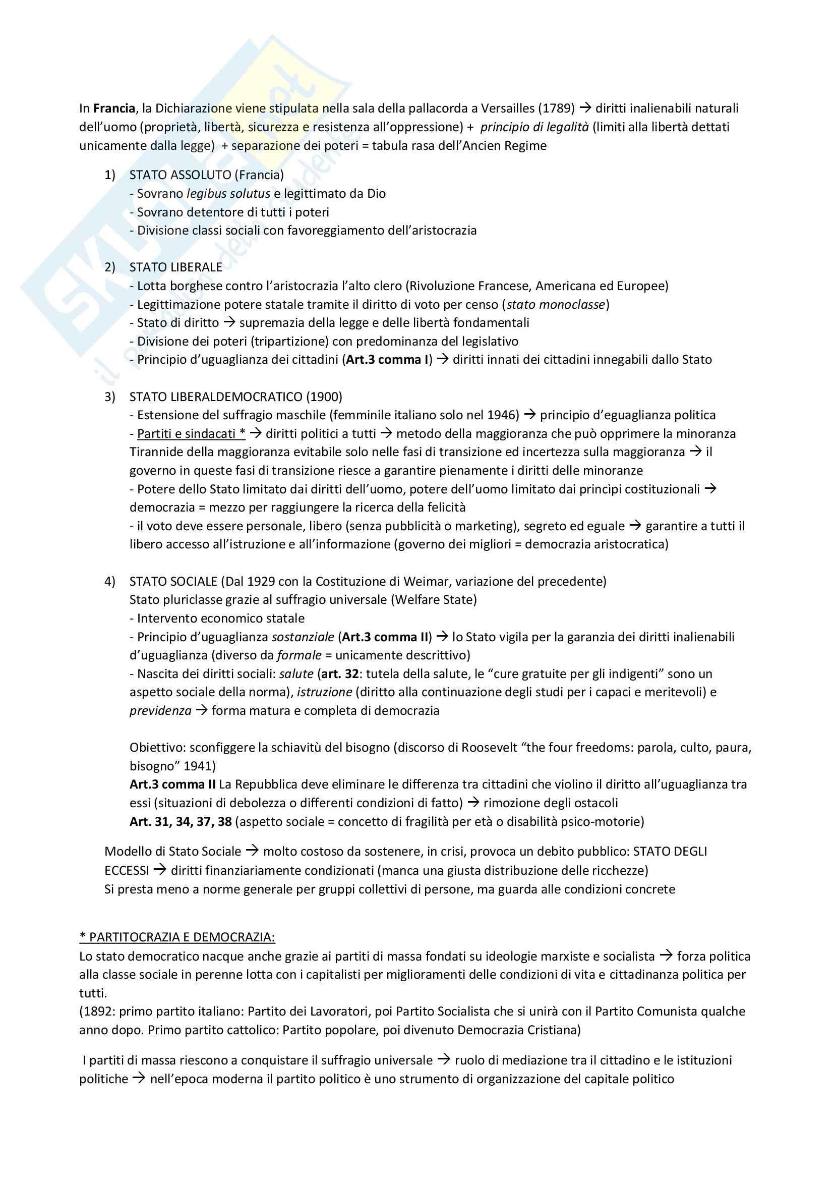 Riassunto esame Diritto Costituzionale, prof. D'Amico Pag. 6