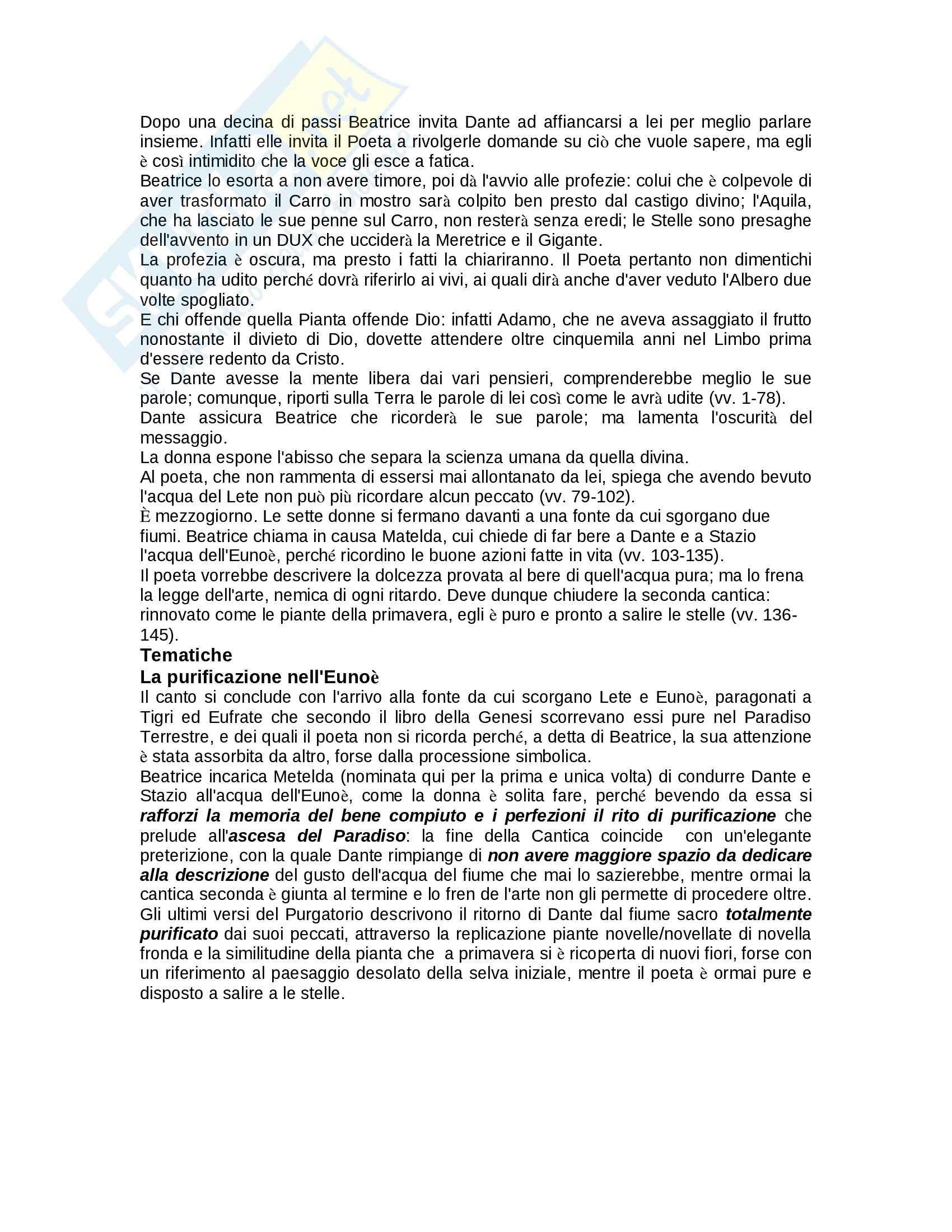 Riassunto esame Letteratura Italiana, prof. Fedi, libro consigliato Purgatorio, Alighieri Pag. 16