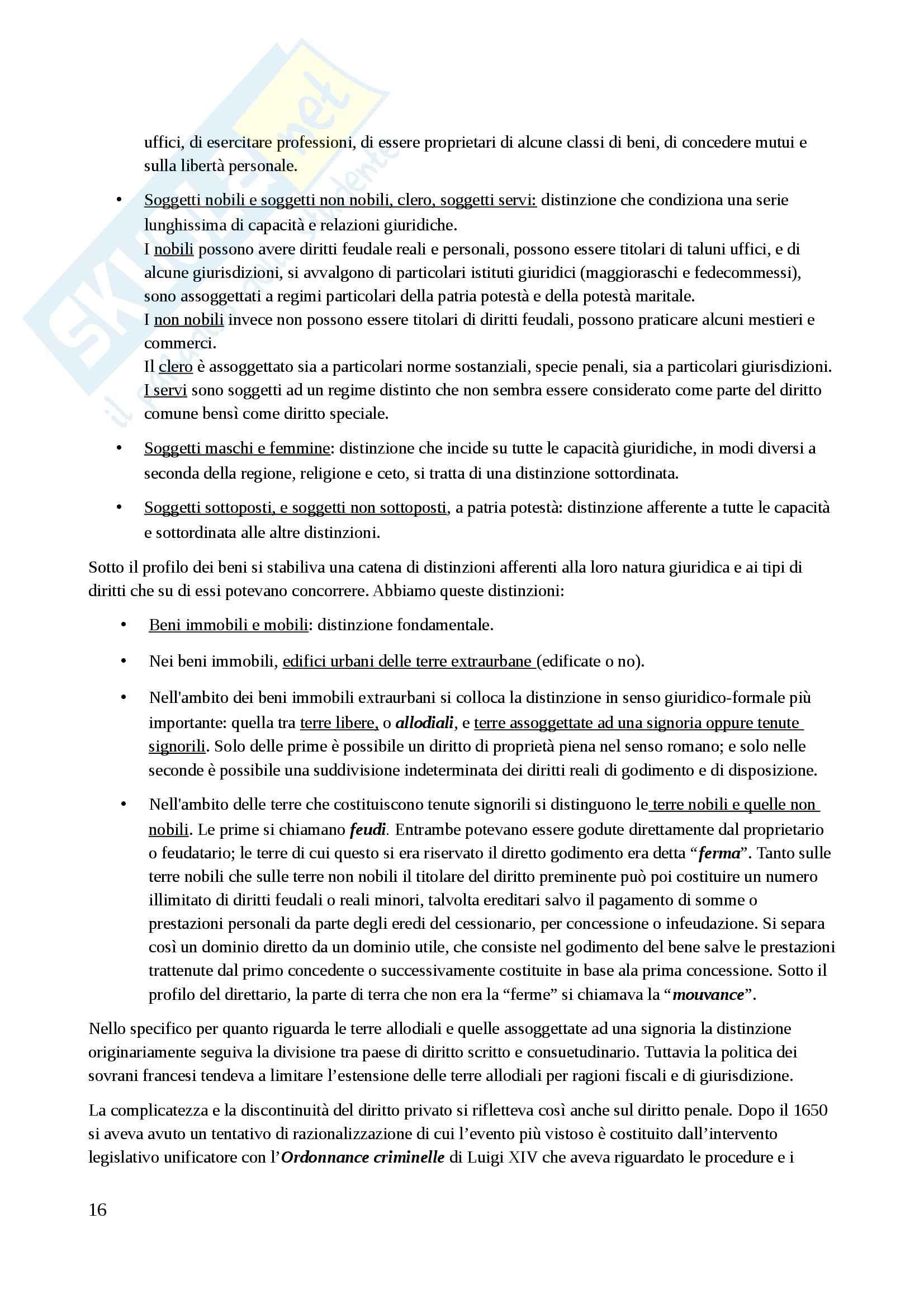 Riassunto esame Storia del diritto, prof. Tarello, libro consigliato Storia della cultura giuridica moderna, Tarello Pag. 16