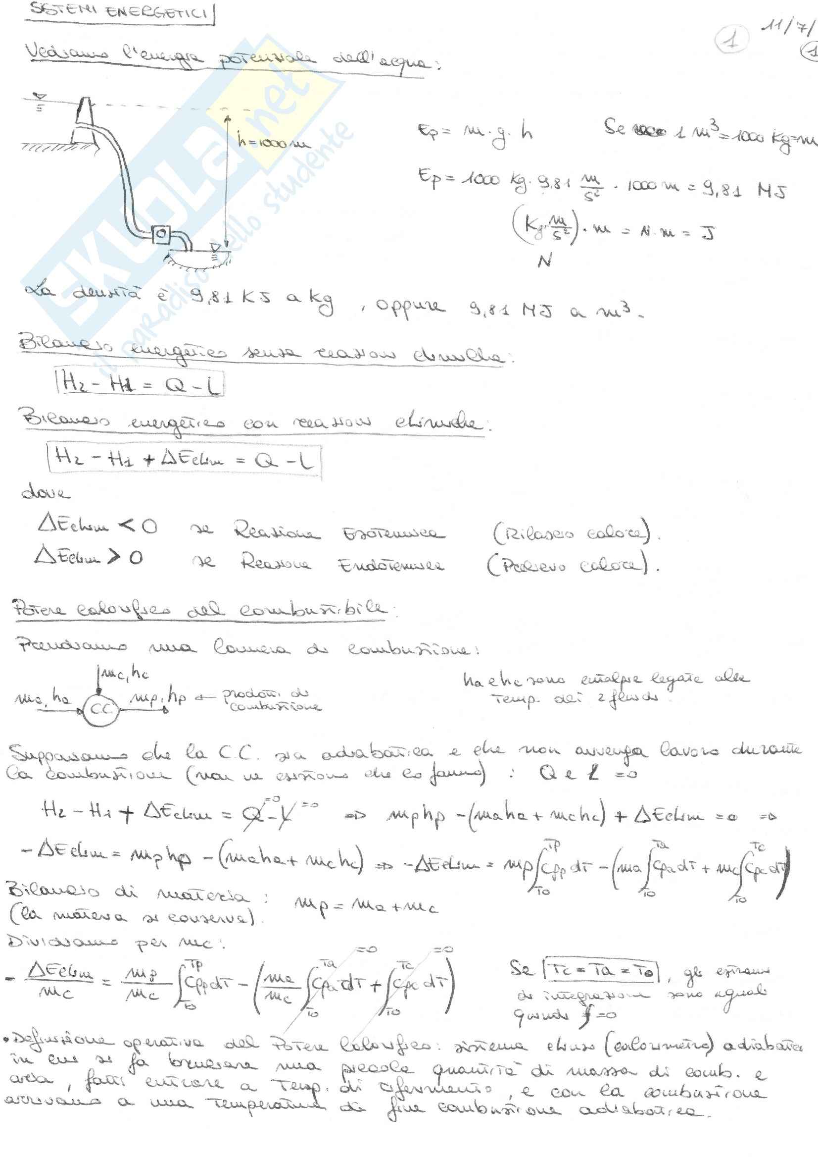Sistemi Energetici - Appunti