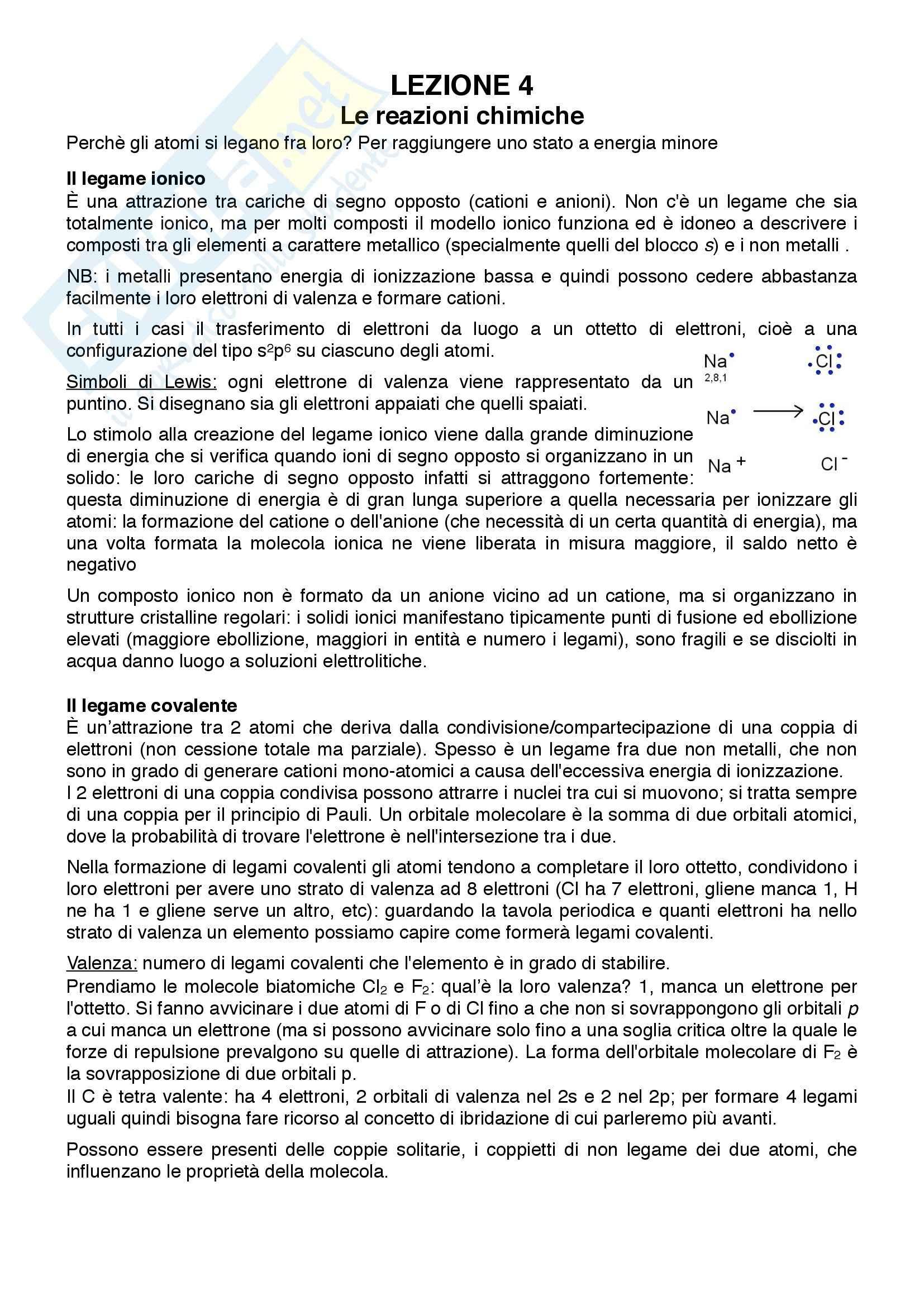 appunto M. Bertoldi Chimica e chimica biologica