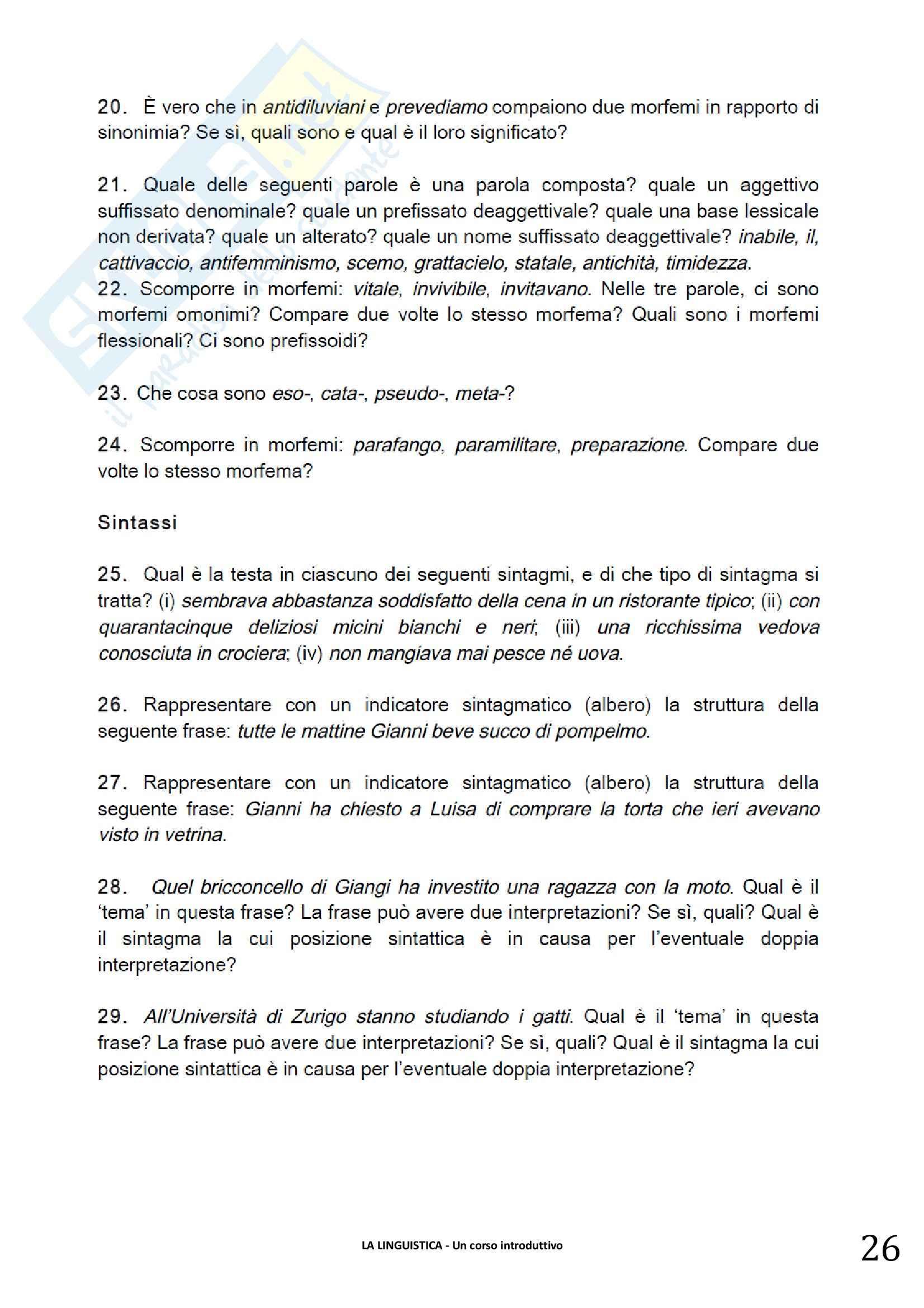 Riassunto esame linguistica generale, prof. Berruto, libro consigliato La Linguistica. Berruto, Cerruti Pag. 26